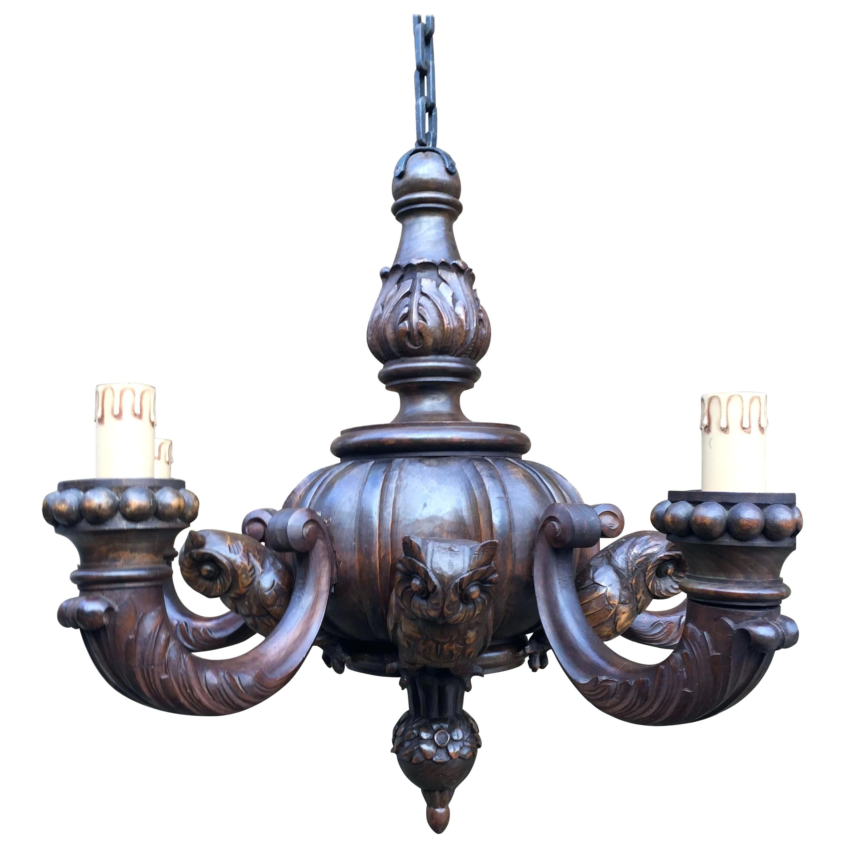 Metal And Wood Chandelier – Chambal (View 20 of 30)