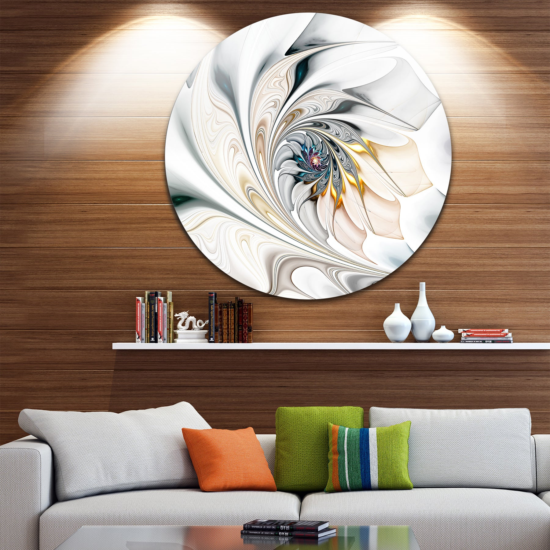 Metal Art | Find Great Art Gallery Deals Shopping At Overstock Regarding Contemporary Abstract Round Wall Decor (View 15 of 30)