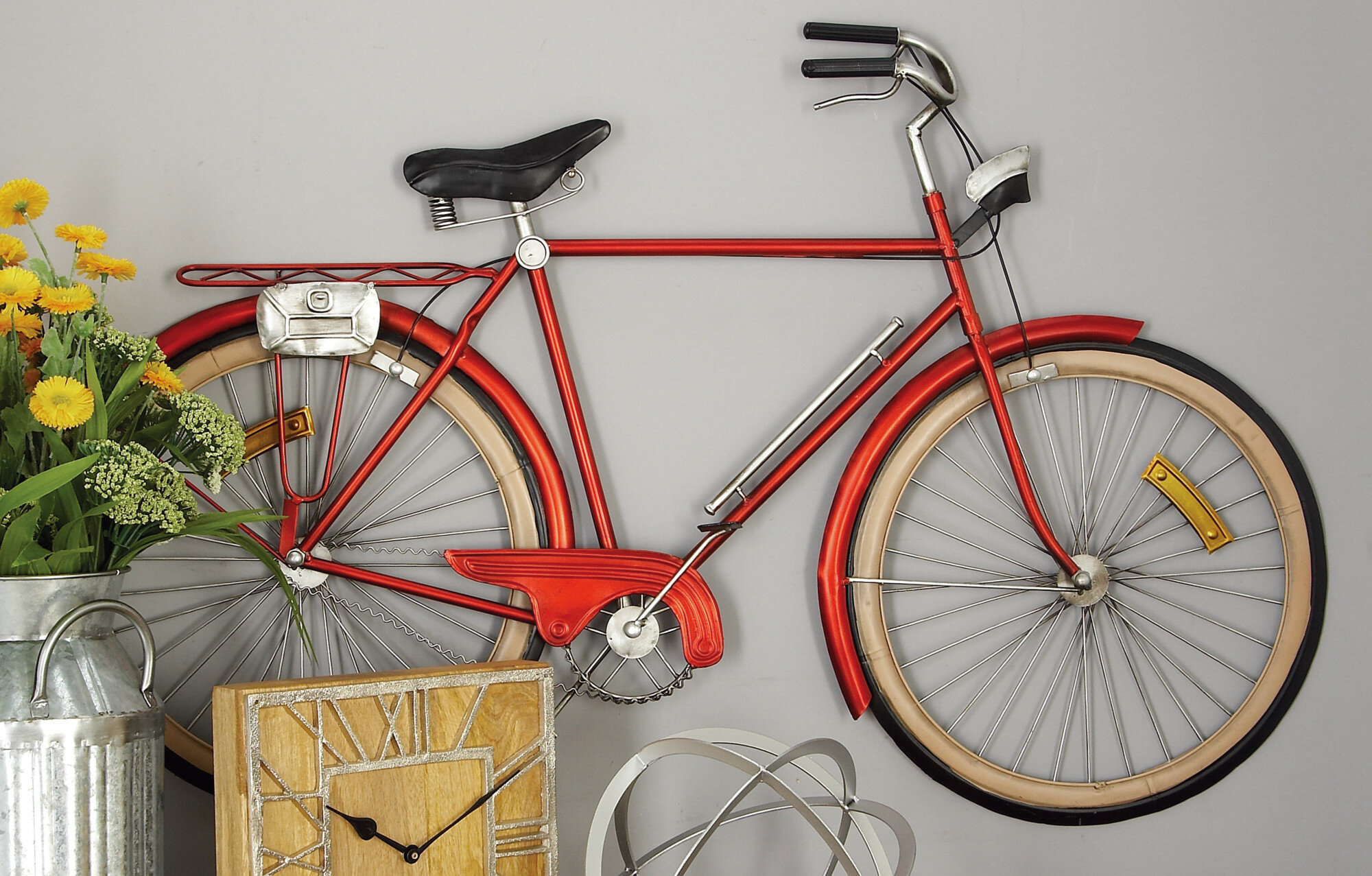 Metal Bicycle Wall Décor Throughout Bike Wall Decor By August Grove (View 15 of 30)