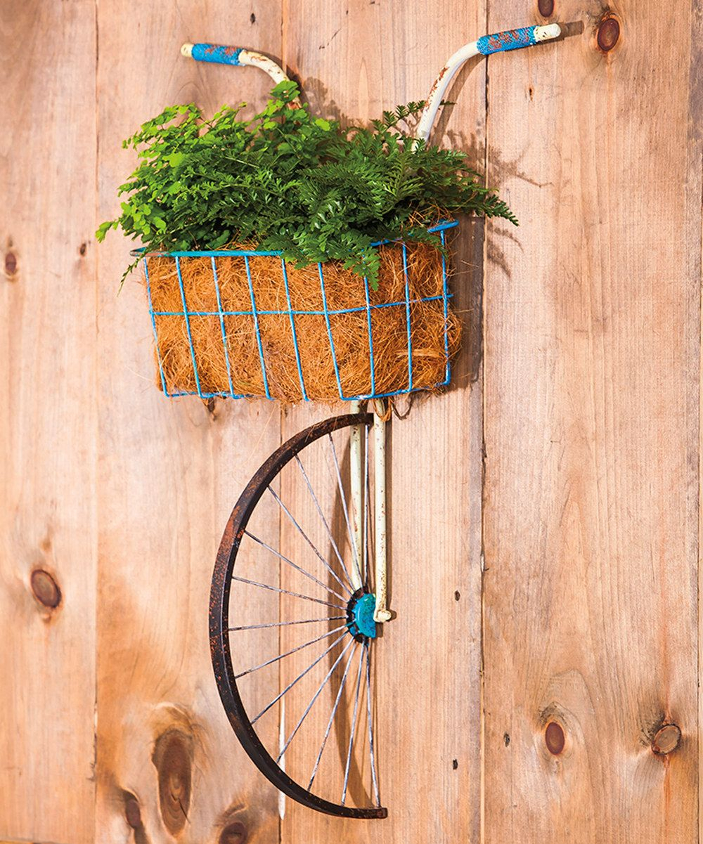 Metal Bicycle With Basket Wall Décor $95 On #zulily With Regard To Bike Wall Decor By August Grove (View 13 of 30)