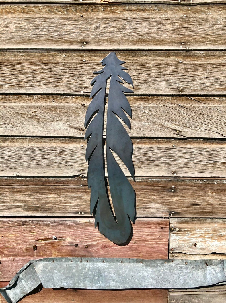 Metal Boho Feather Wall Art Decor In Metal Universal Wall Decor (View 5 of 30)