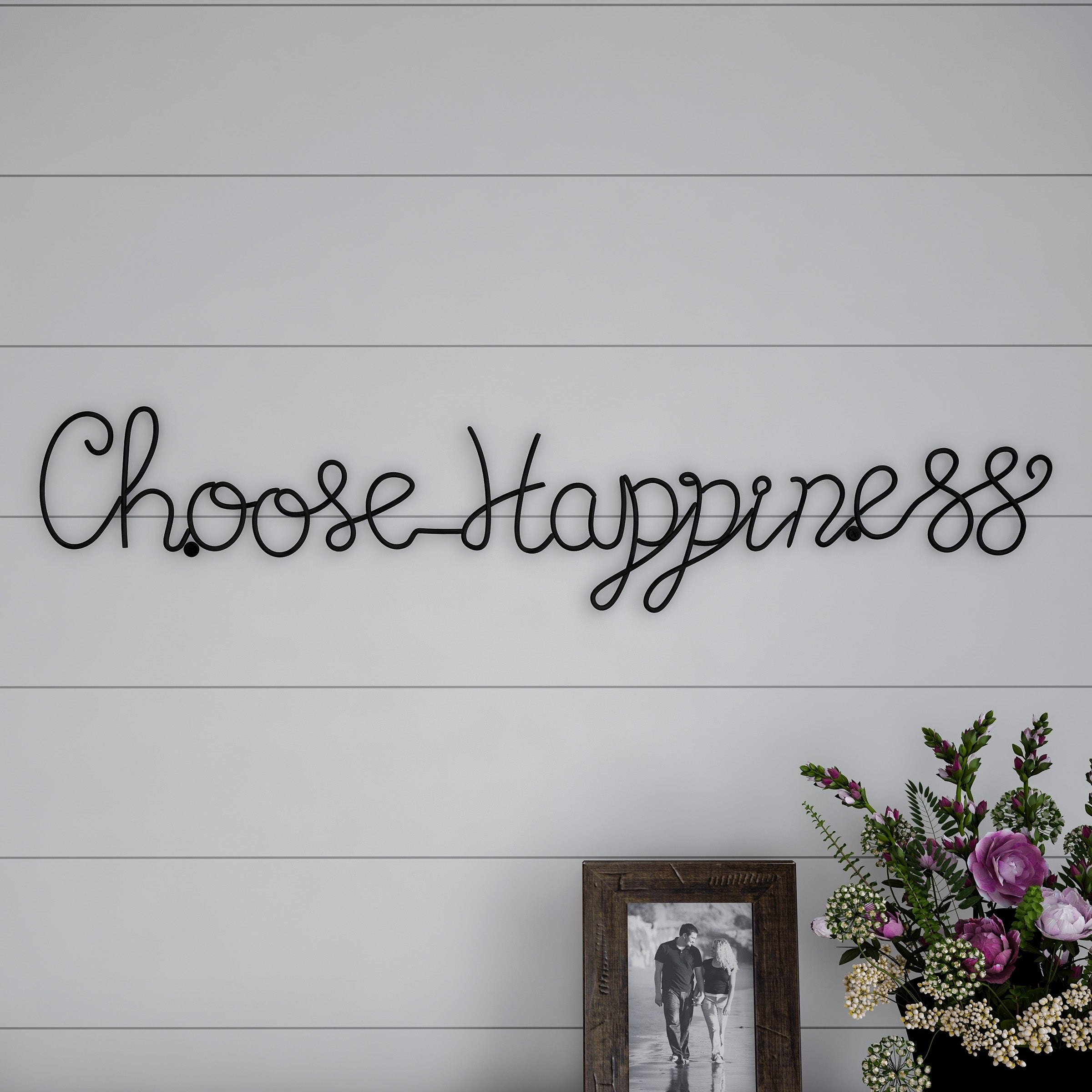 Metal Cutout Choose Happiness Cursive Cutout Sign 3D Word Art Lavish Home Pertaining To Choose Happiness 3D Cursive Metal Wall Decor (View 11 of 30)
