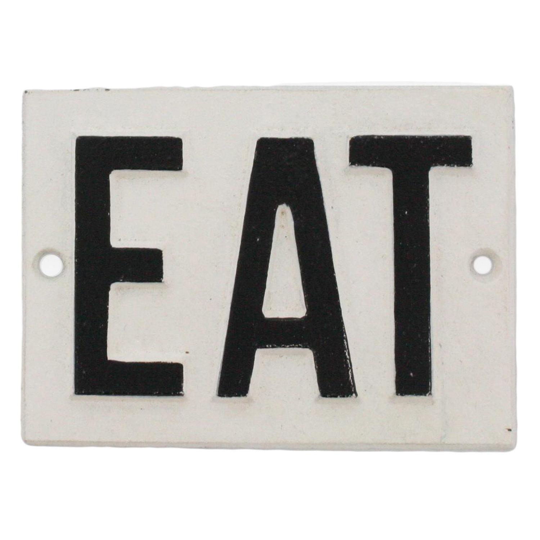 Metal Eat Sign | Wayfair (View 16 of 30)