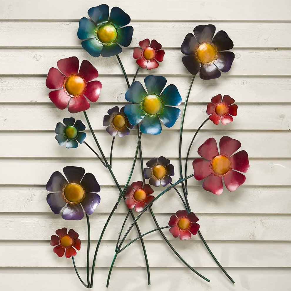Metal Flower Wall Art Decor – Flowers Healthy Regarding Metal Flower Wall Decor (Set Of 3) (View 27 of 30)