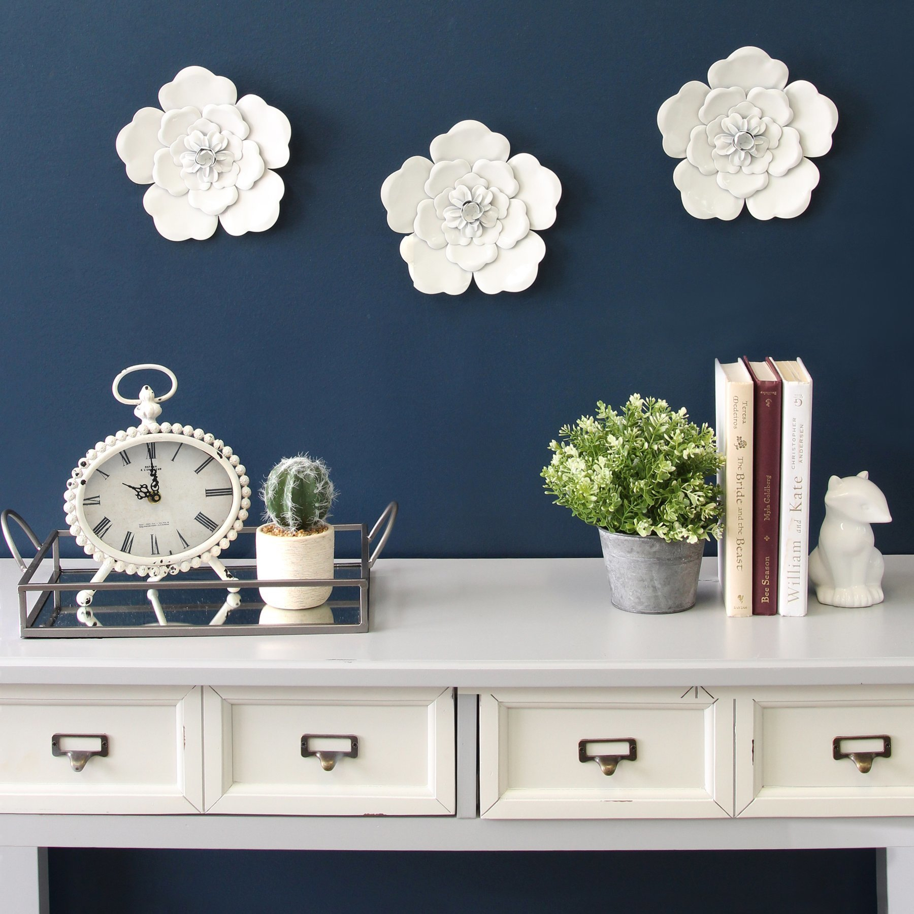 Metal Flower Wall Art | Wayfair Intended For Metal Flower Wall Decor (Set Of 3) (View 20 of 30)