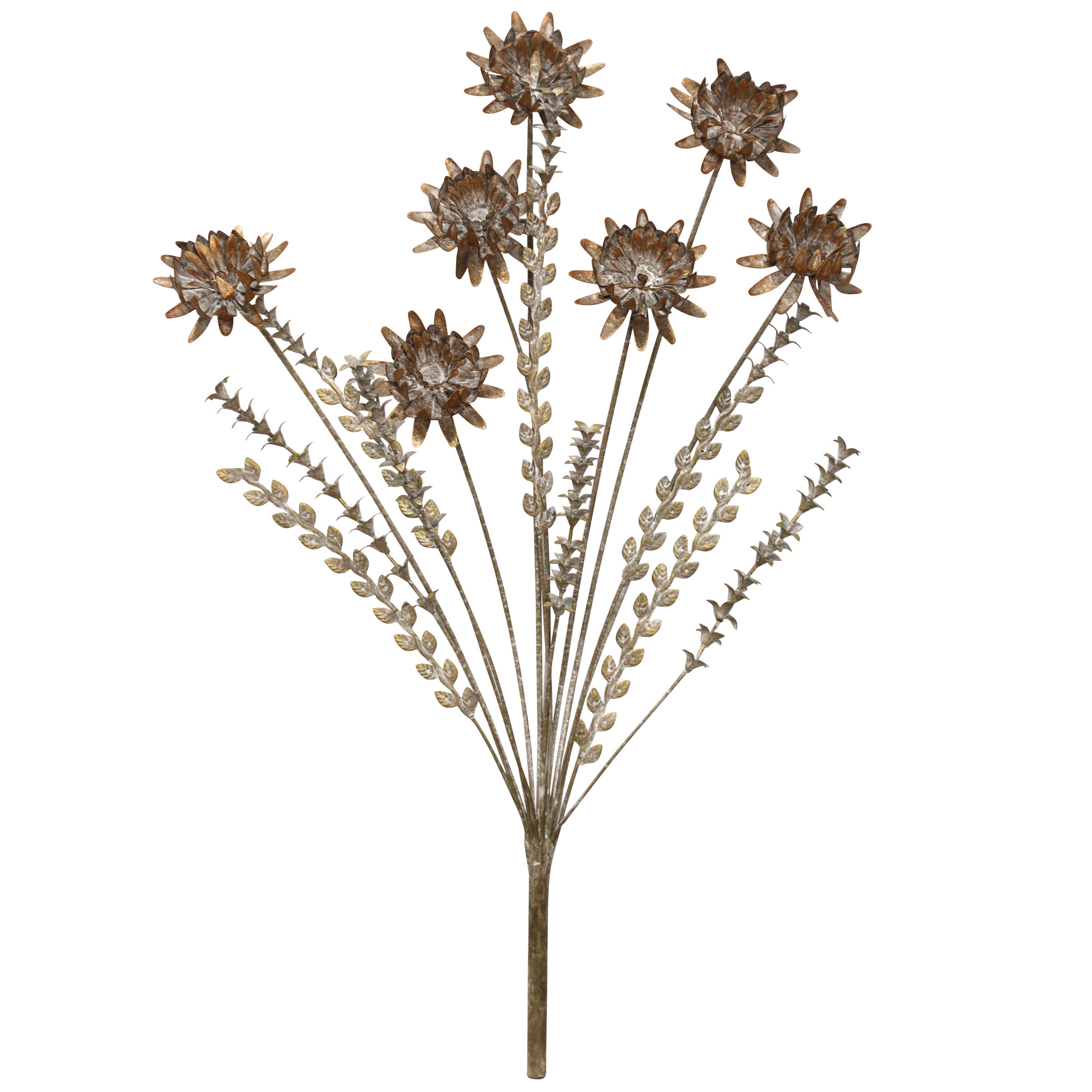 Metal Flower Wall Art | Wayfair Intended For Raheem Flowers Metal Wall Decor (View 12 of 30)