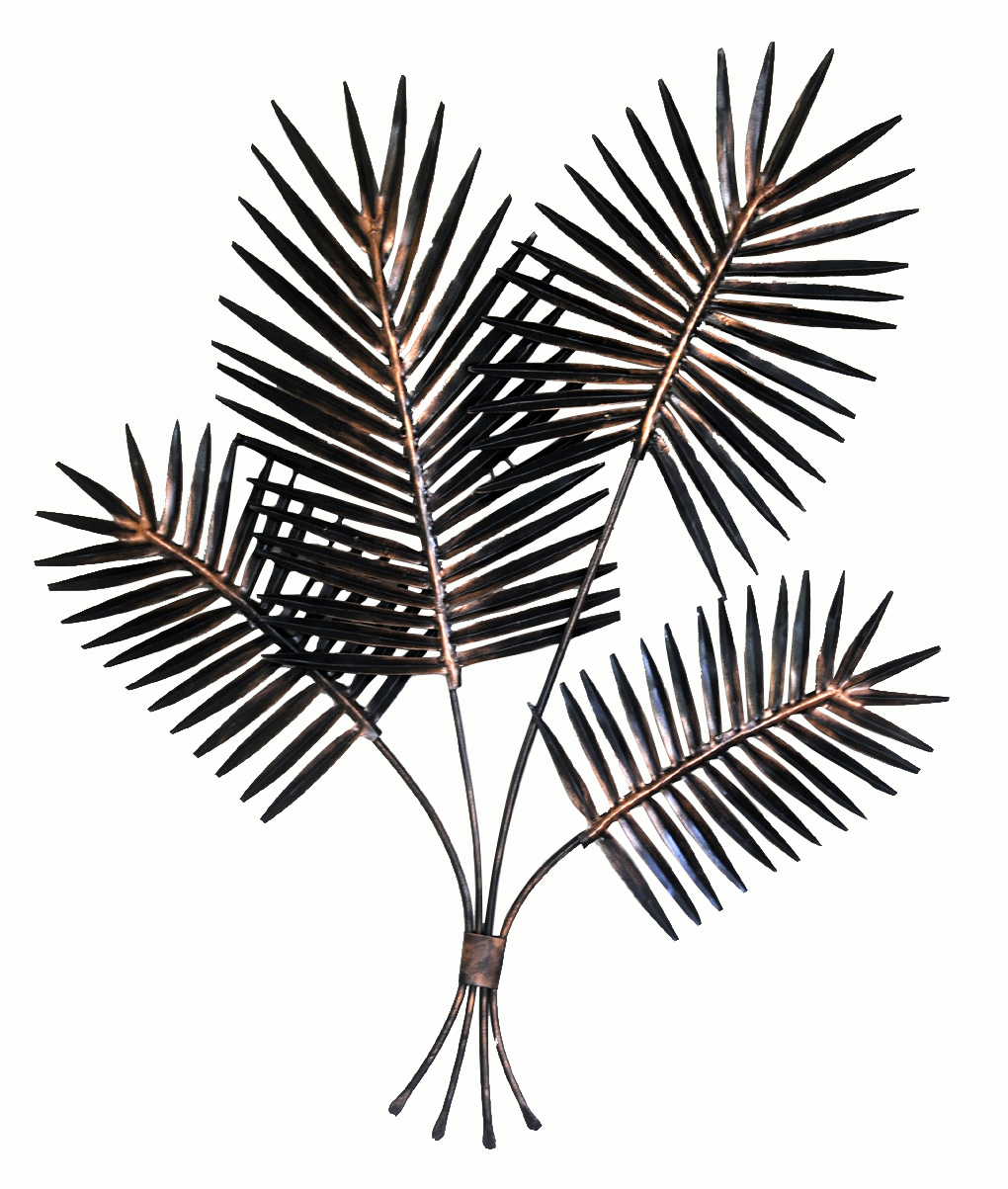Metal Iron Tree Branch Leaves Wall Art Sculpture Wall Mount with regard to Leaves Metal Sculpture Wall Decor (Image 24 of 30)