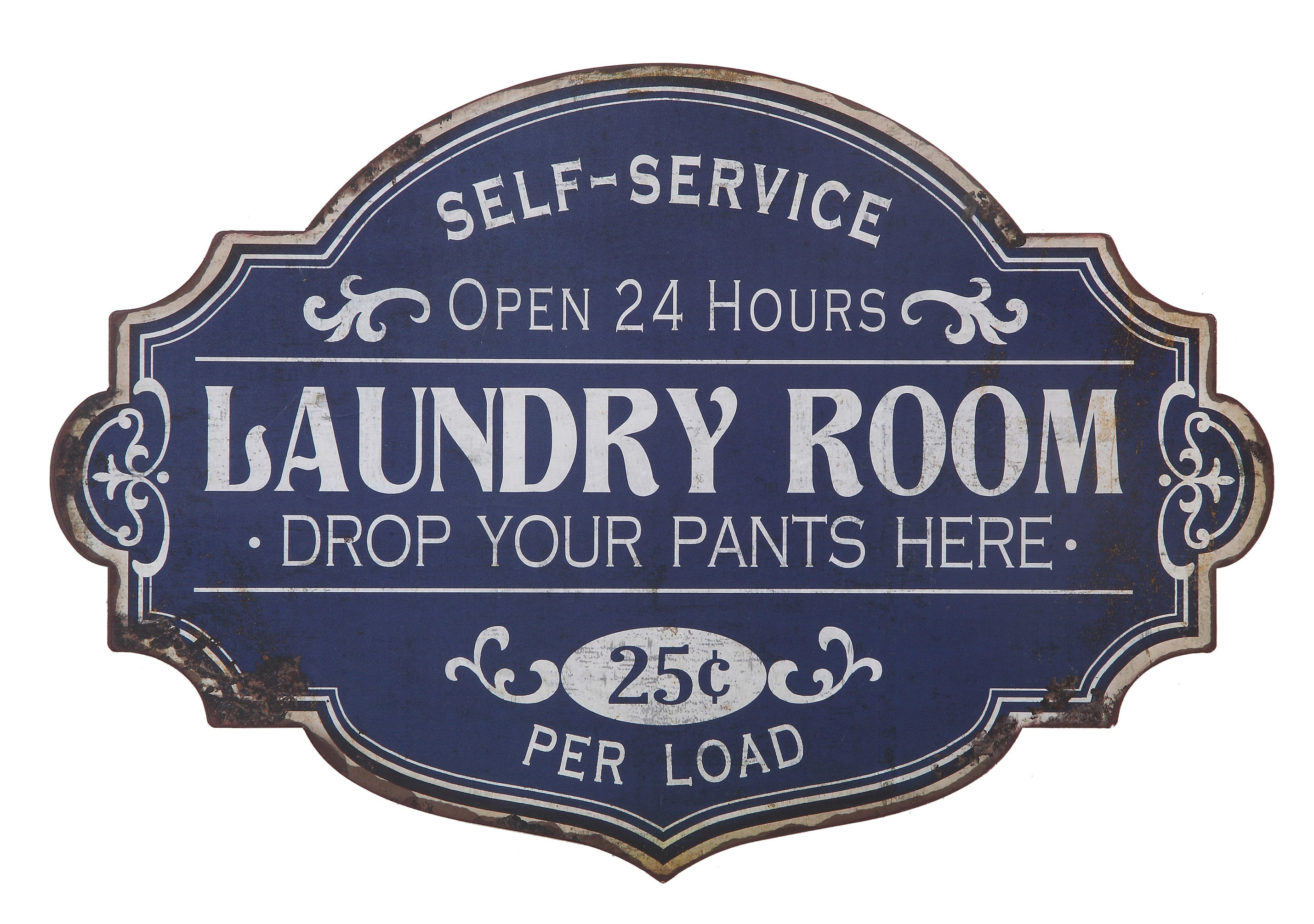 Metal Laundry Room Wall Décor & Reviews | Joss & Main Within Personalized Mint Distressed Vintage Look Laundry Metal Sign Wall Decor (View 7 of 30)