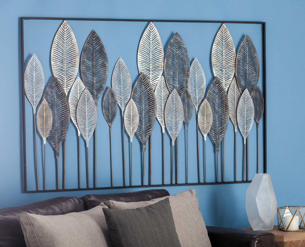 Metal Leaf Wall Décor | House Ideas | Metal Wall Decor regarding Metal Leaf Wall Decor By Red Barrel Studio (Image 12 of 30)