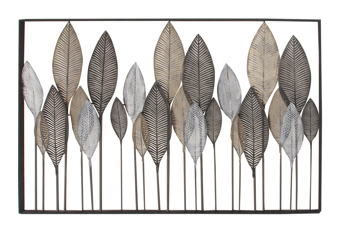 Metal Leaf Wall Decor – Pmpresssecretariat For Wall Decor By Cole & Grey (View 15 of 30)