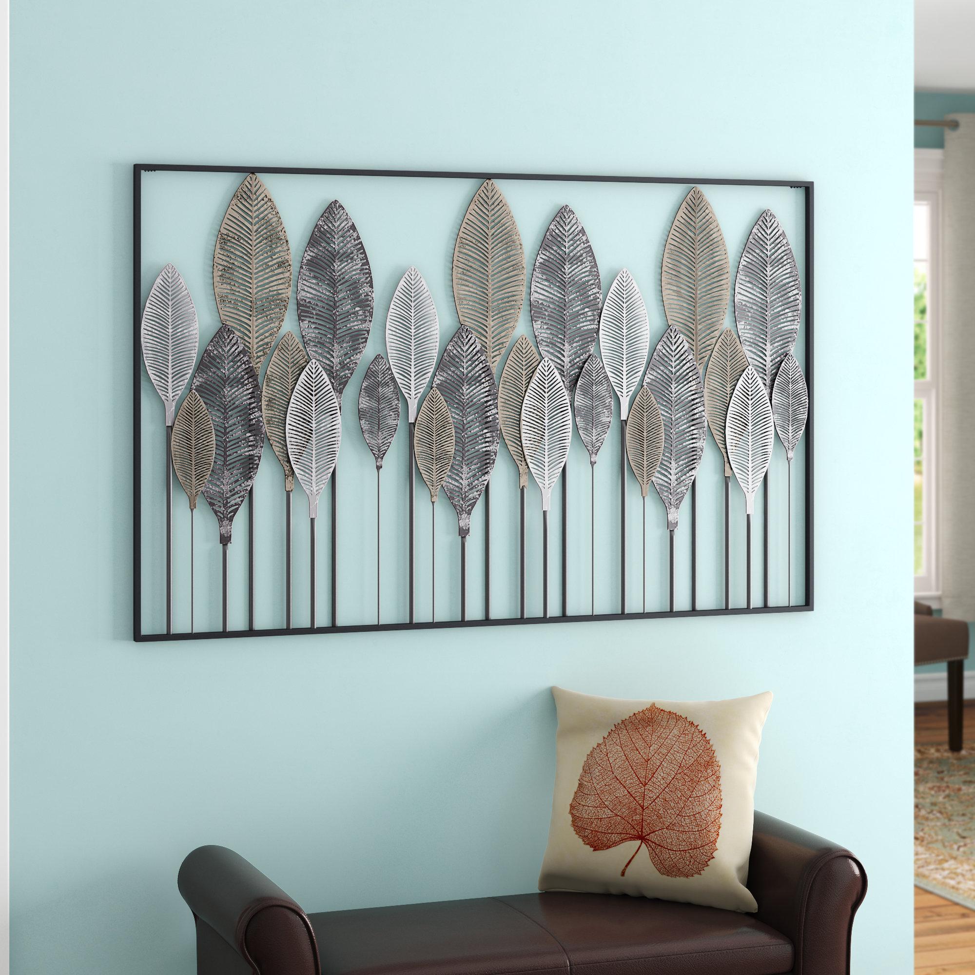 Popular Photo of Metal Leaf Wall Decor By Red Barrel Studio