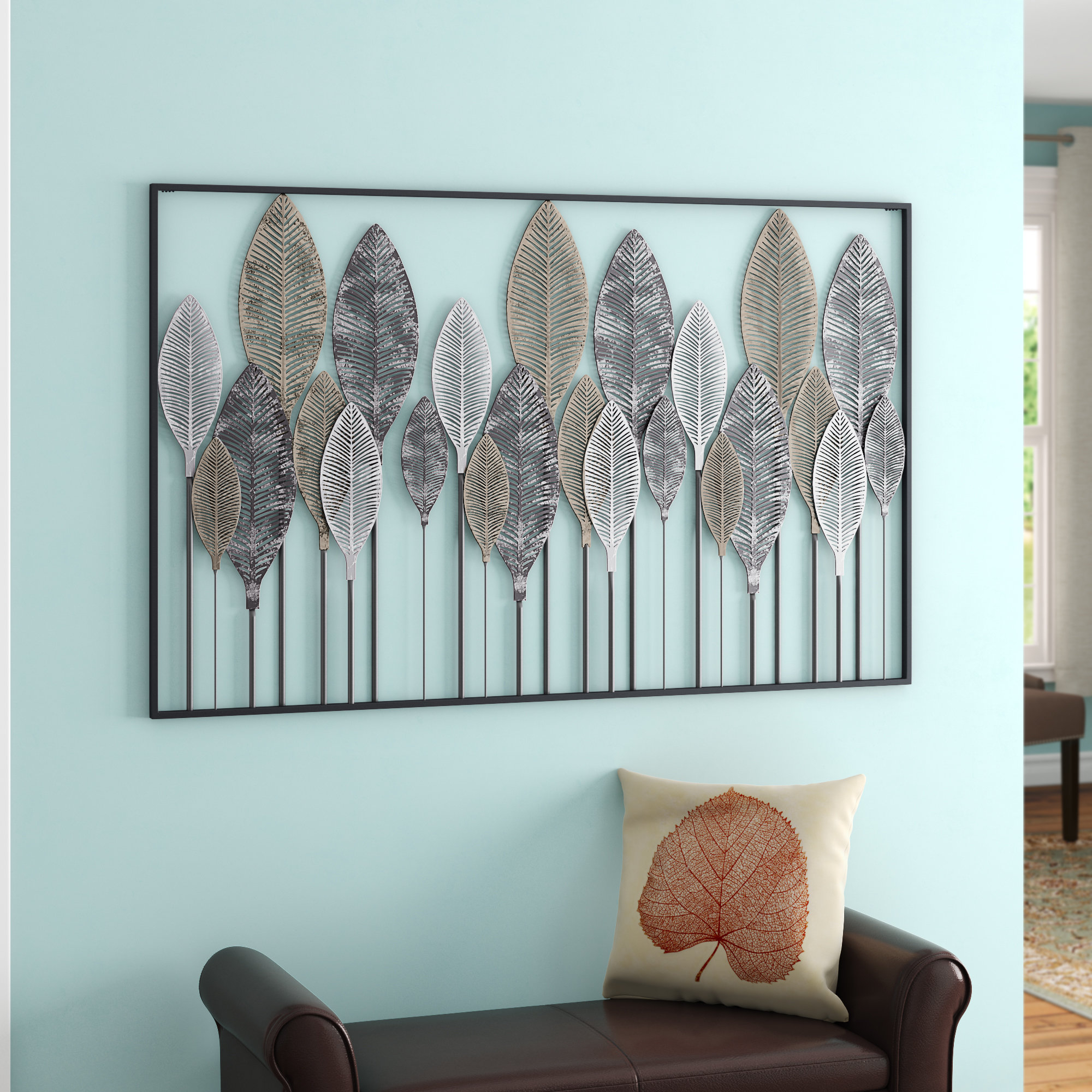 Metal Leaf Wall Décor Within Desford Leaf Wall Decor (View 17 of 30)