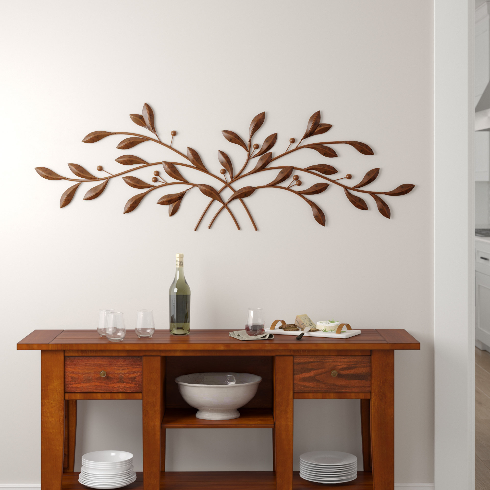 Metal Leaf Wall Hanging | Wayfair pertaining to Metal Leaf Wall Decor By Red Barrel Studio (Image 13 of 30)