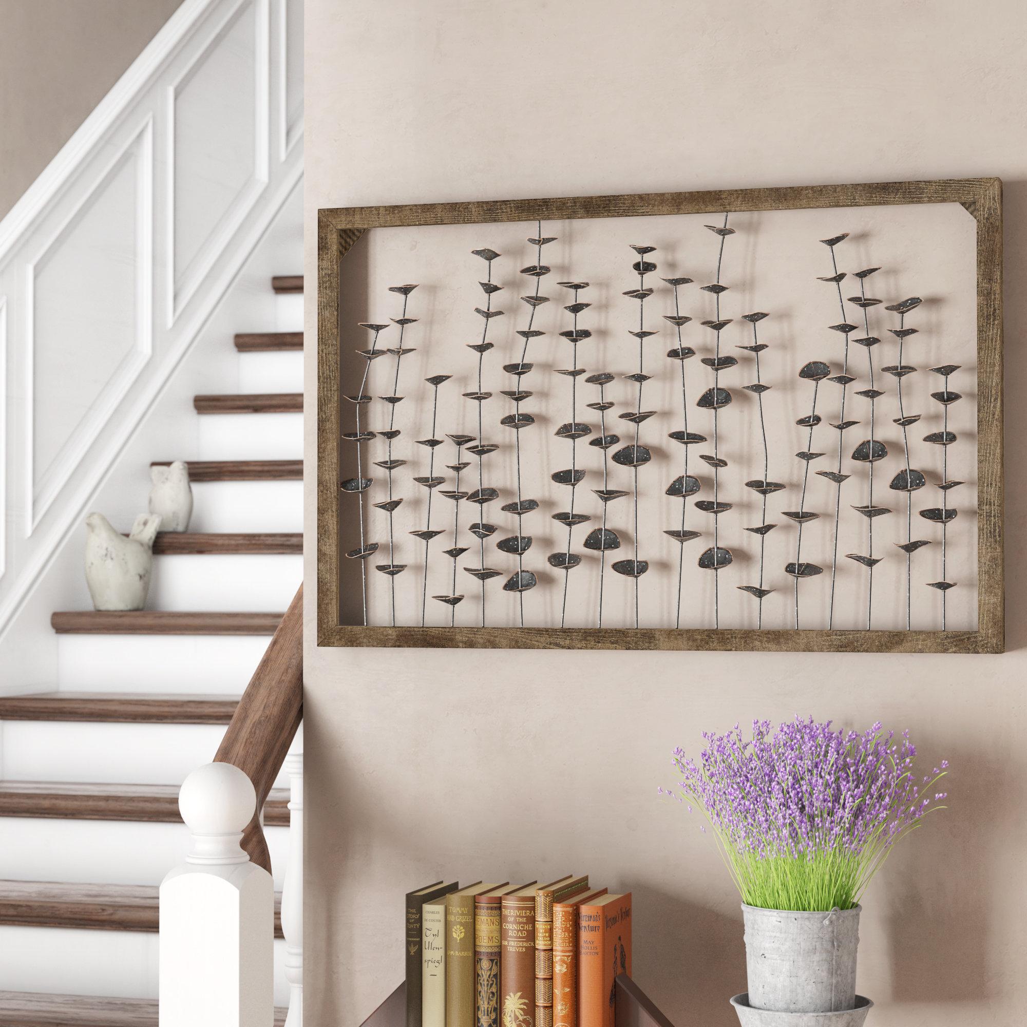 Metal Letter Wall Art | Wayfair within Millanocket Metal Wheel Photo Holder Wall Decor (Image 21 of 30)