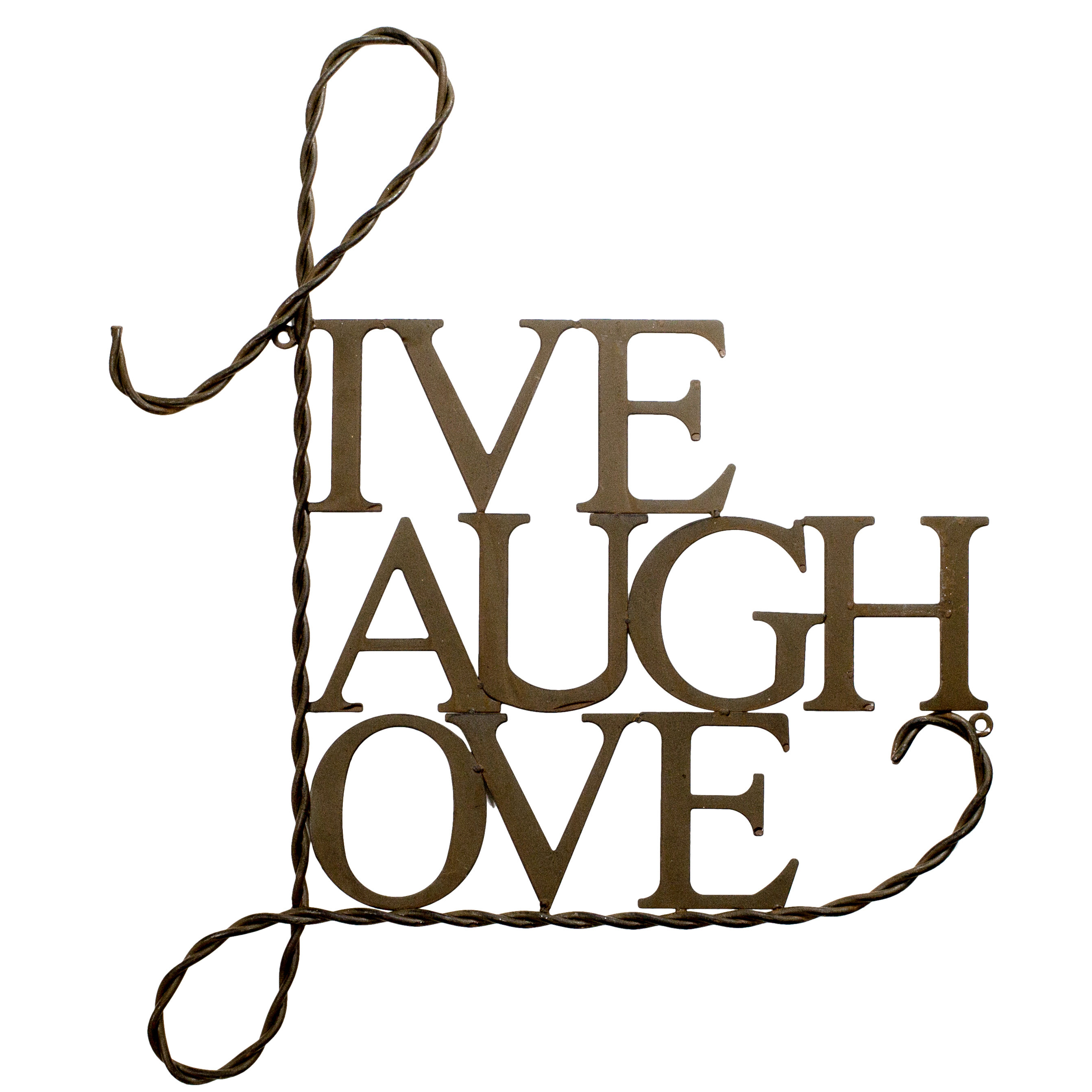 Metal Live Laugh Love Wall Décor Within Live, Laugh, Love Antique Copper Wall Decor (View 12 of 30)