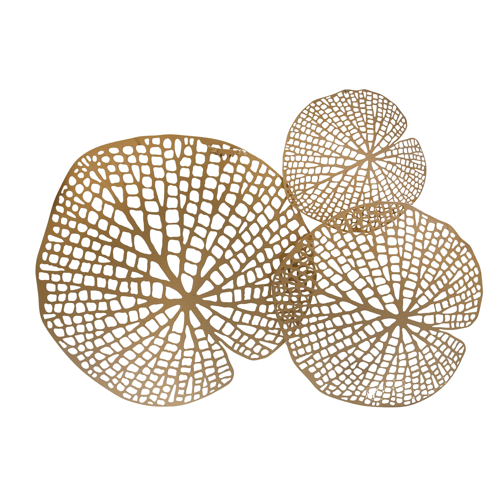 Metal Lotus Leaf Wall Décor In Rhys Turtle Decor Wall Decor (View 17 of 30)