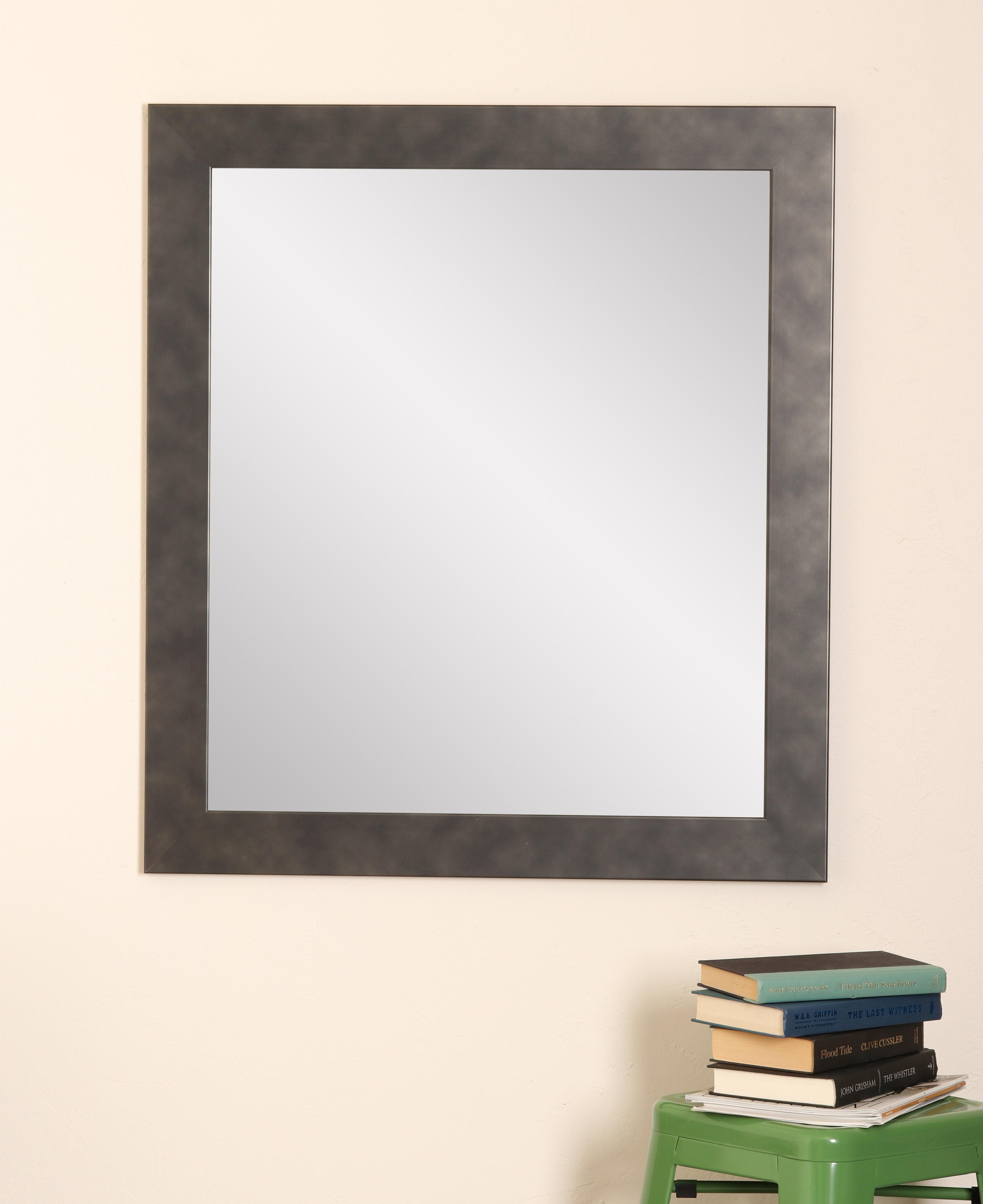 Metal Mirror Wall Art | Wayfair pertaining to Koeller Industrial Metal Wall Mirrors (Image 15 of 30)