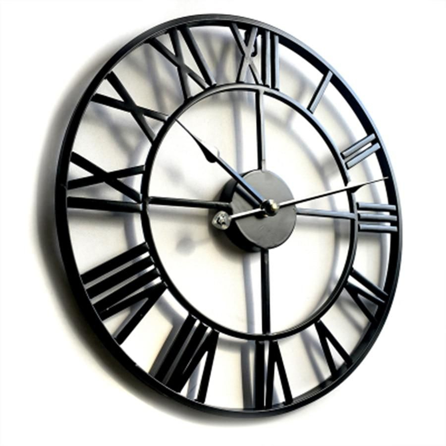 Metal Modern Farmhouse Wall Clock In 2019 | Courtney's Room Intended For Large Modern Industrial Wall Decor (Photo 30 of 30)