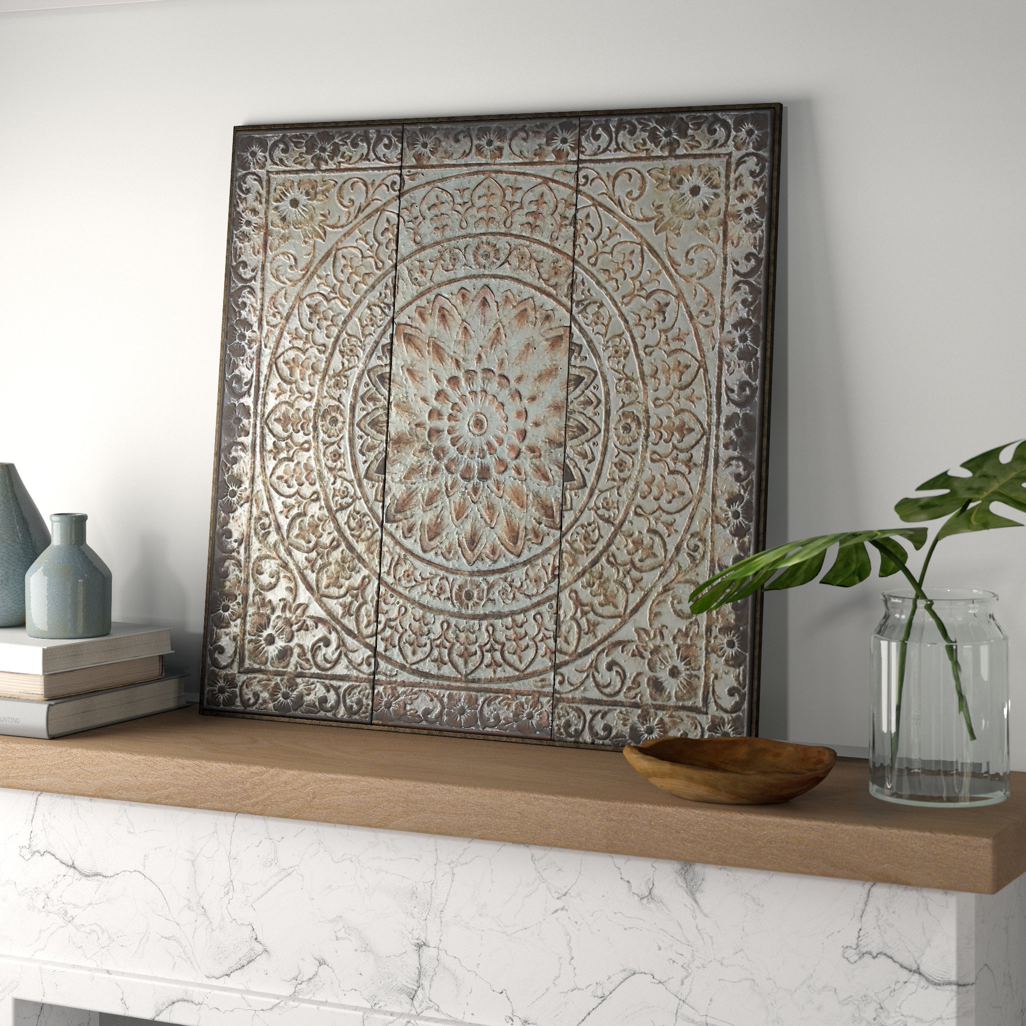 Metal Panel Wall Decor | Wayfair Pertaining To Abstract Bar And Panel Wall Decor (Image 17 of 30)