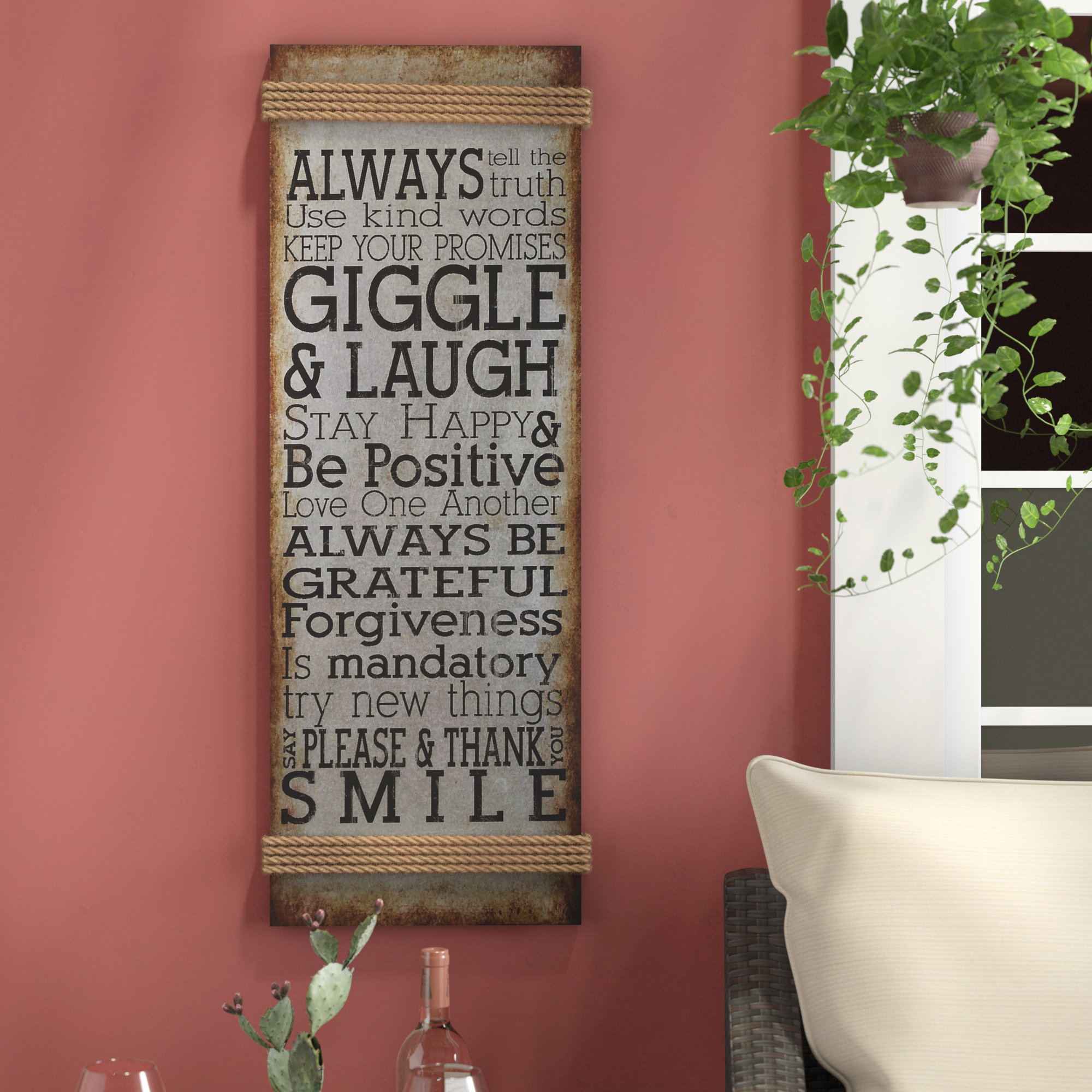 Popular Photo of Metal Rope Wall Sign Wall Decor