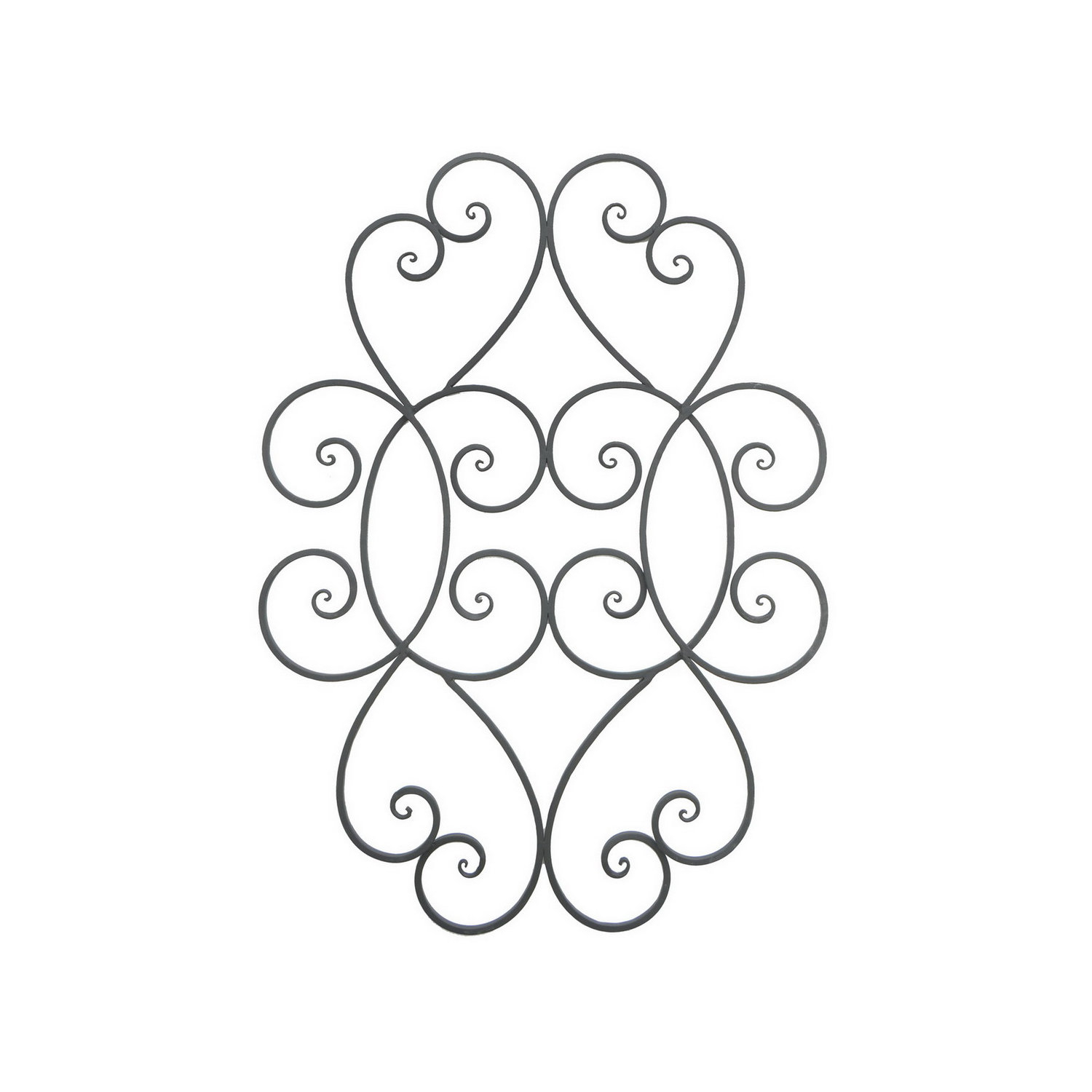 Metal Scroll Wall Art | Wayfair intended for Belle Circular Scroll Wall Decor (Image 16 of 30)