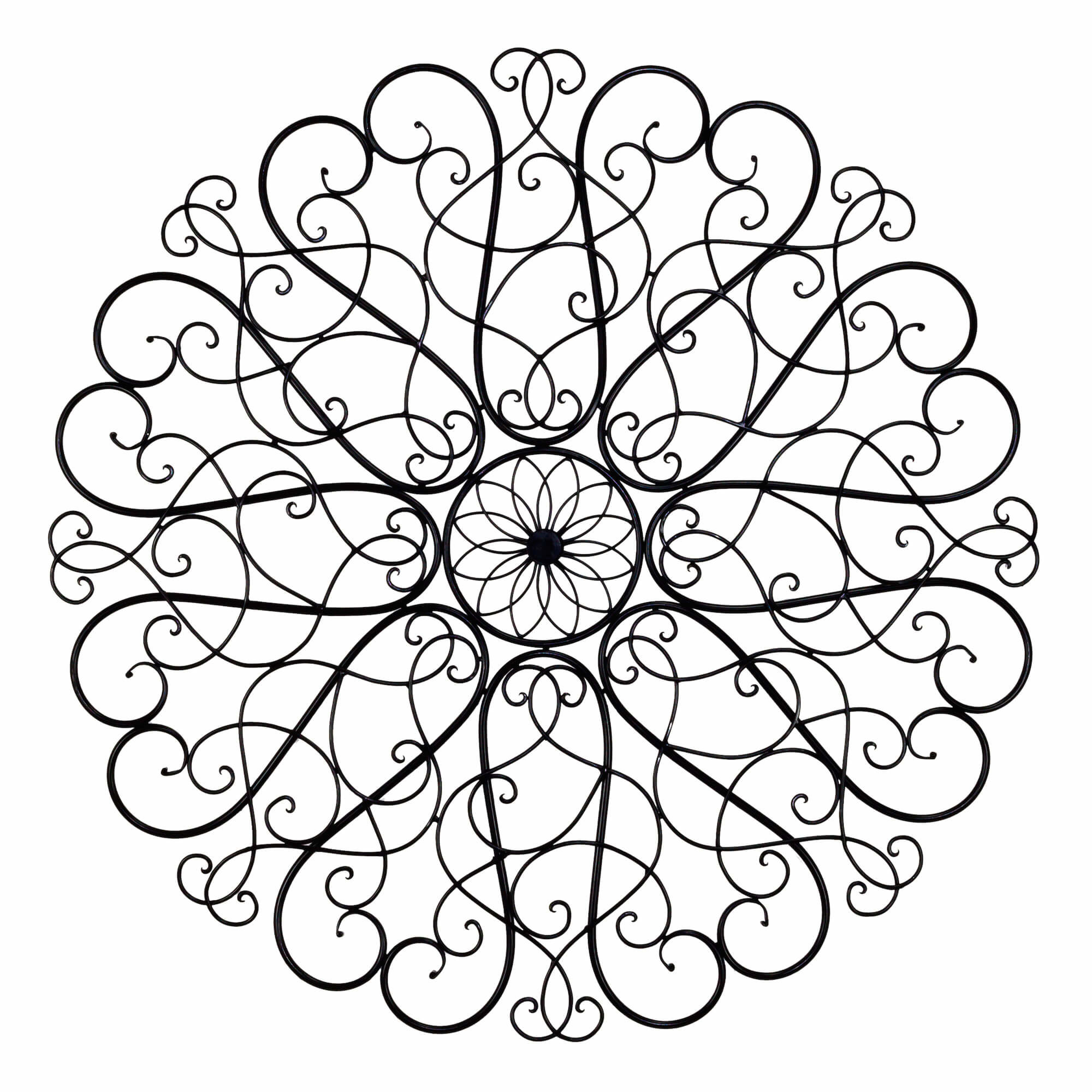 Metal Scroll Wall Art | Wayfair regarding Belle Circular Scroll Wall Decor (Image 19 of 30)