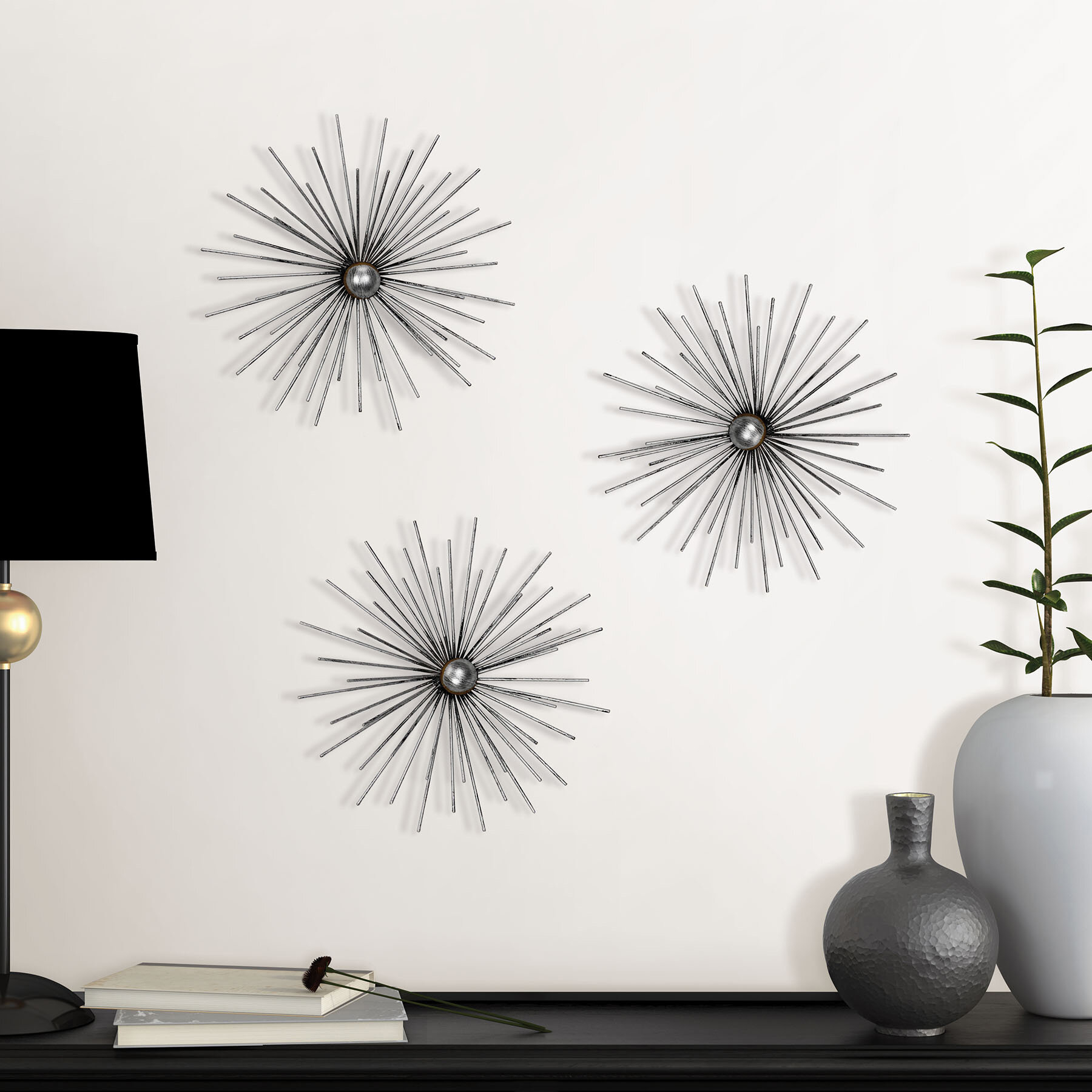 Metal Starburst Wall Décor Within Starburst Wall Decor (View 4 of 30)