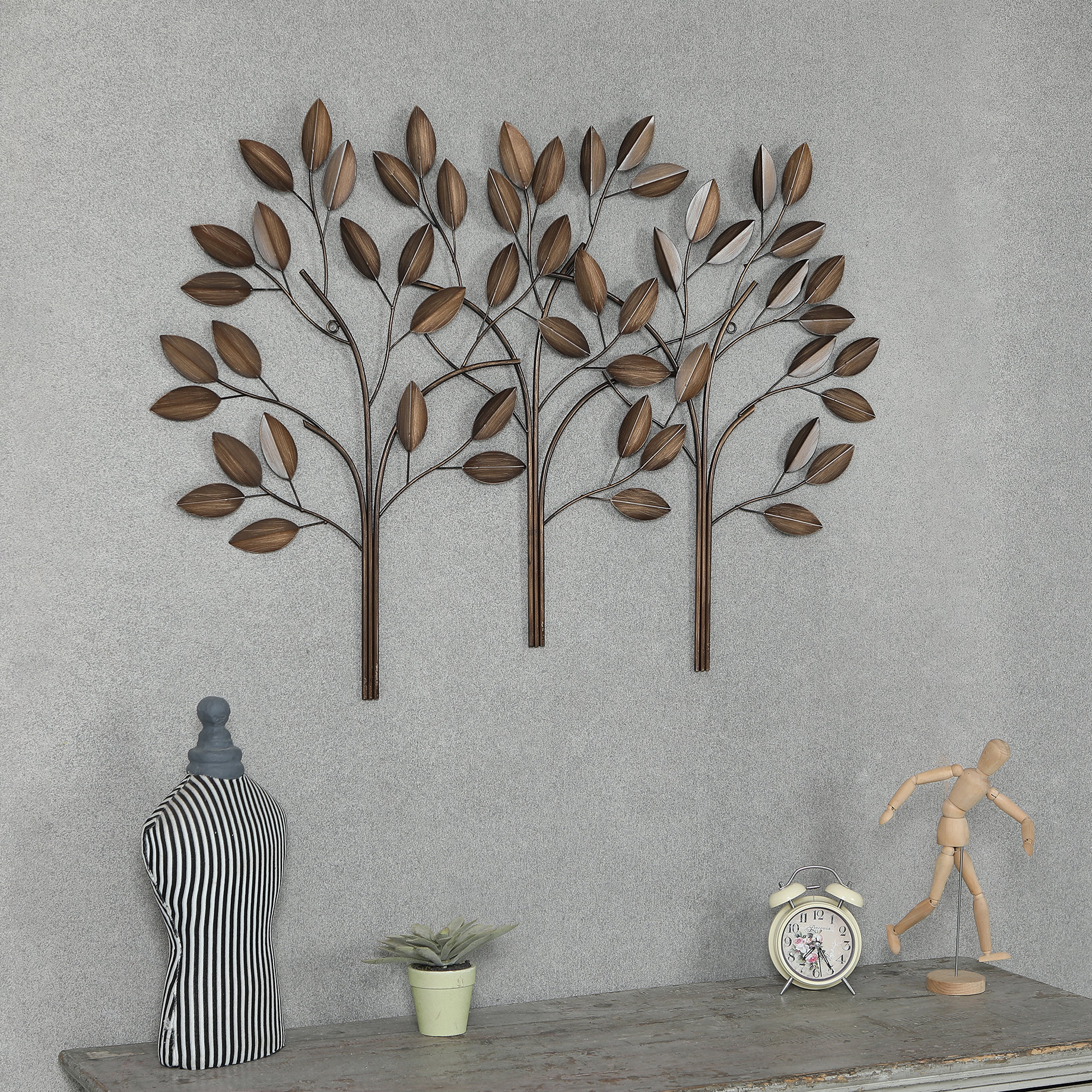 Metal Trees Wall Décor Regarding Leaves Metal Sculpture Wall Decor By Winston Porter (View 2 of 30)