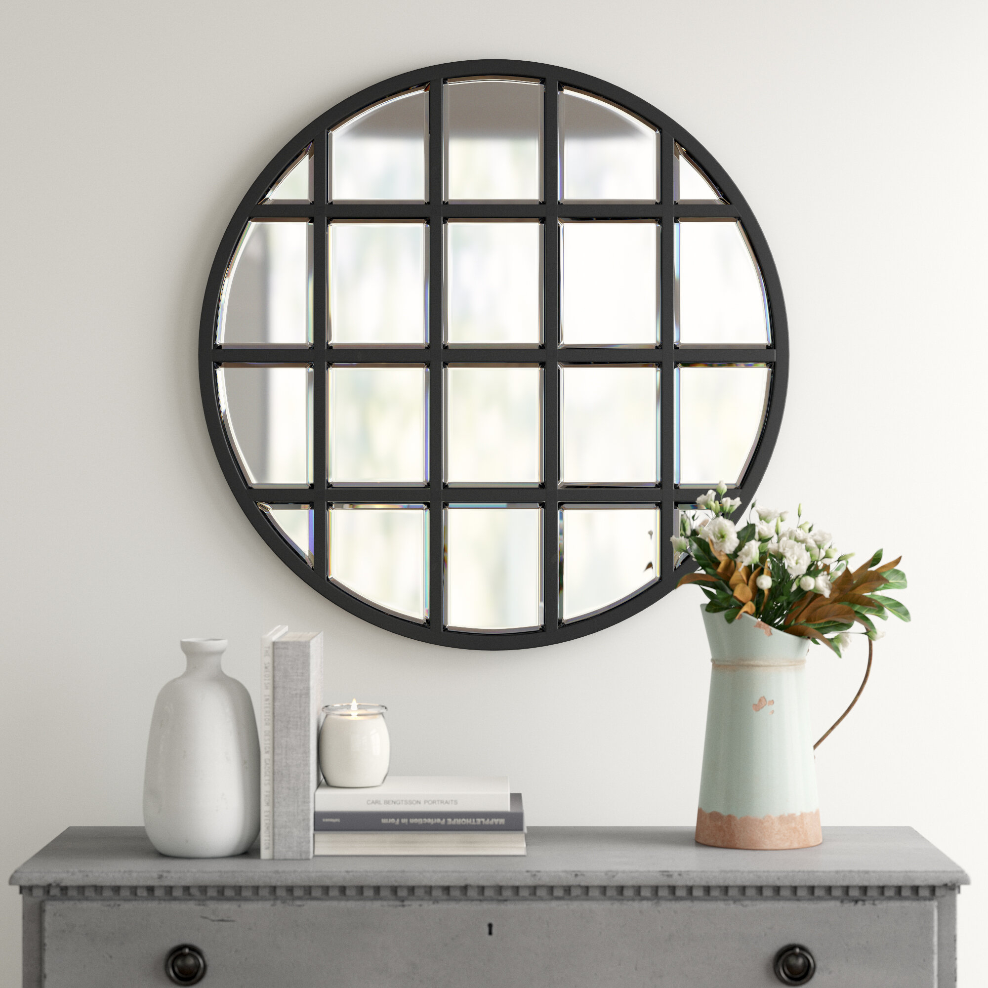 Metal Wall & Accent Mirrors | Joss & Main inside Yedinak Modern Distressed Accent Mirrors (Image 10 of 30)