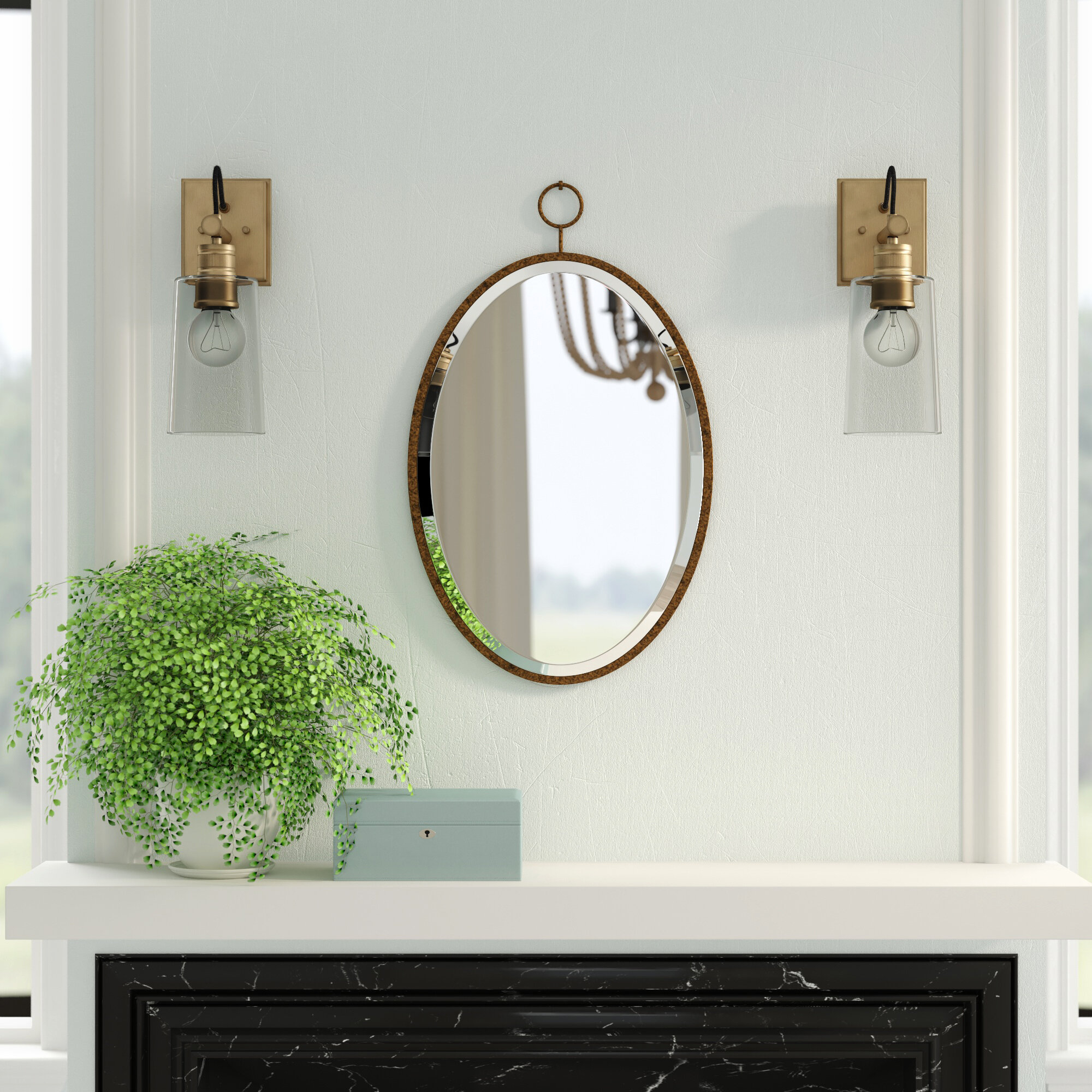 Metal Wall & Accent Mirrors | Joss & Main pertaining to Yedinak Modern Distressed Accent Mirrors (Image 11 of 30)
