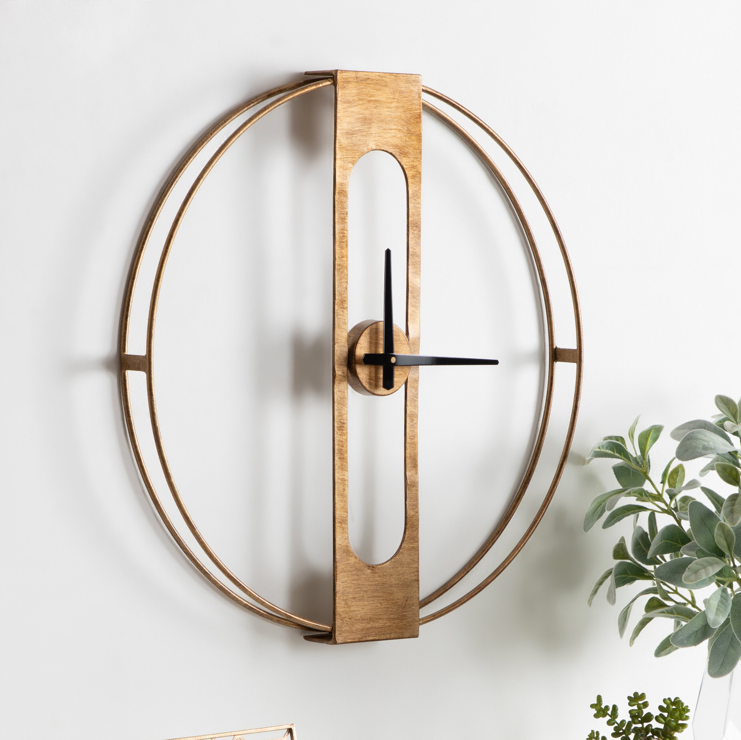Metal Wall Art Clock | Wayfair In Contemporary Forest Metal Wall Decor (View 12 of 30)