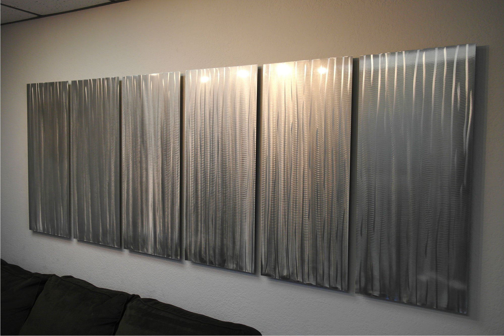 Metal Wall Art Decor Aluminum Abstract Contemporary Modern Sculpture Hanging Zen Textured – Bamboo Forest 36x95miles Shay With Regard To Contemporary Forest Metal Wall Decor (View 17 of 30)