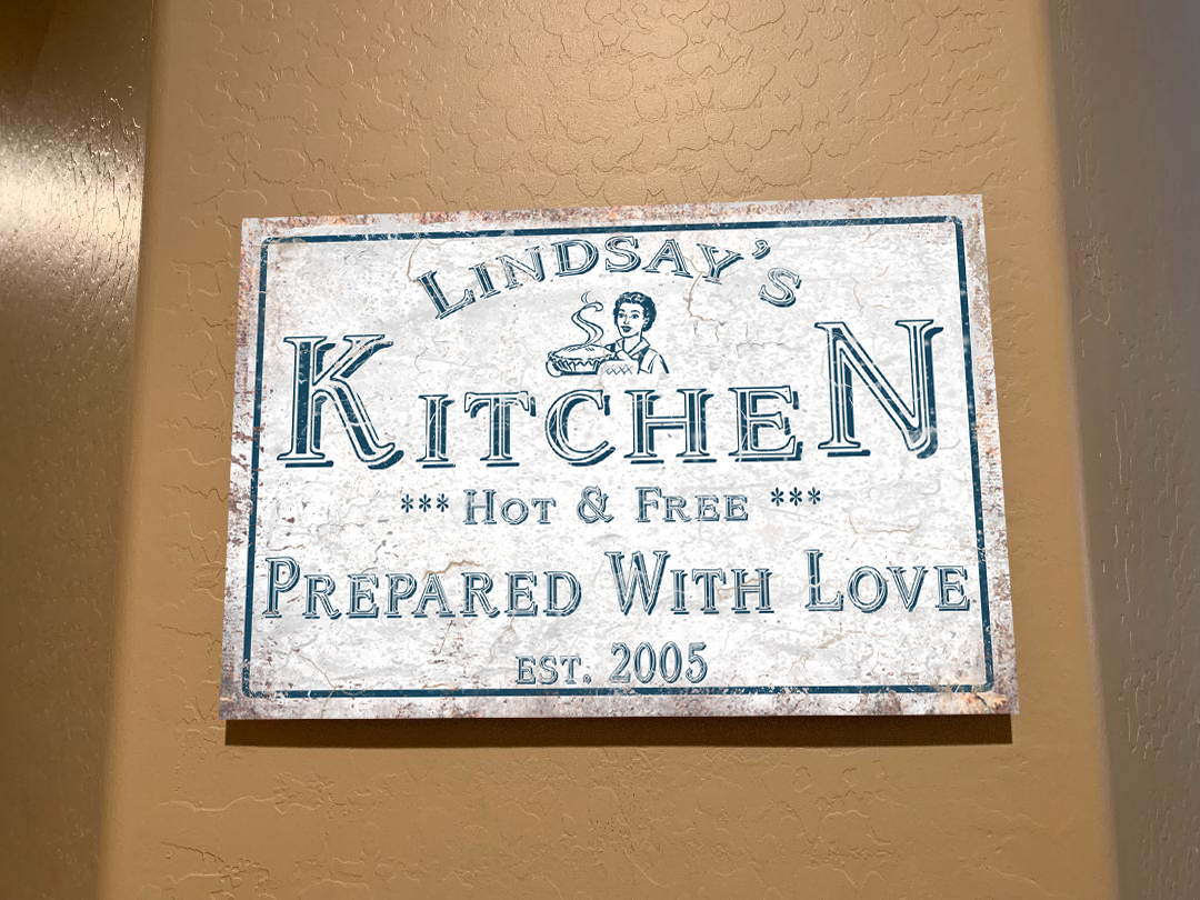 Metal Wall Art For The Kitchen – Personalized! Within Personalized Distressed Vintage Look Kitchen Metal Sign Wall Decor (View 11 of 30)
