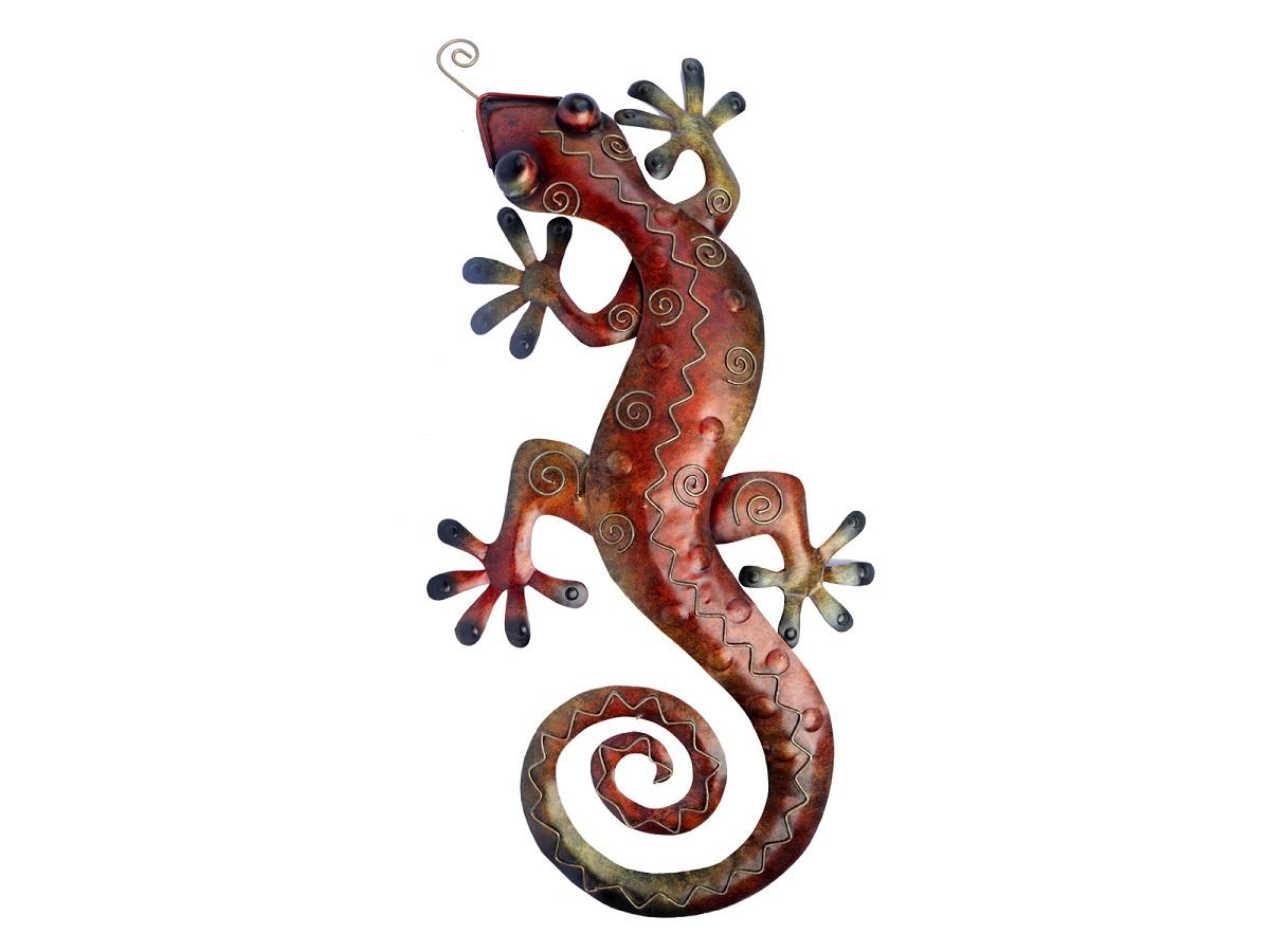 Metal Wall Art – Large Multicolour Gecko Wall Decor Inside Gecko Wall Decor (View 15 of 30)
