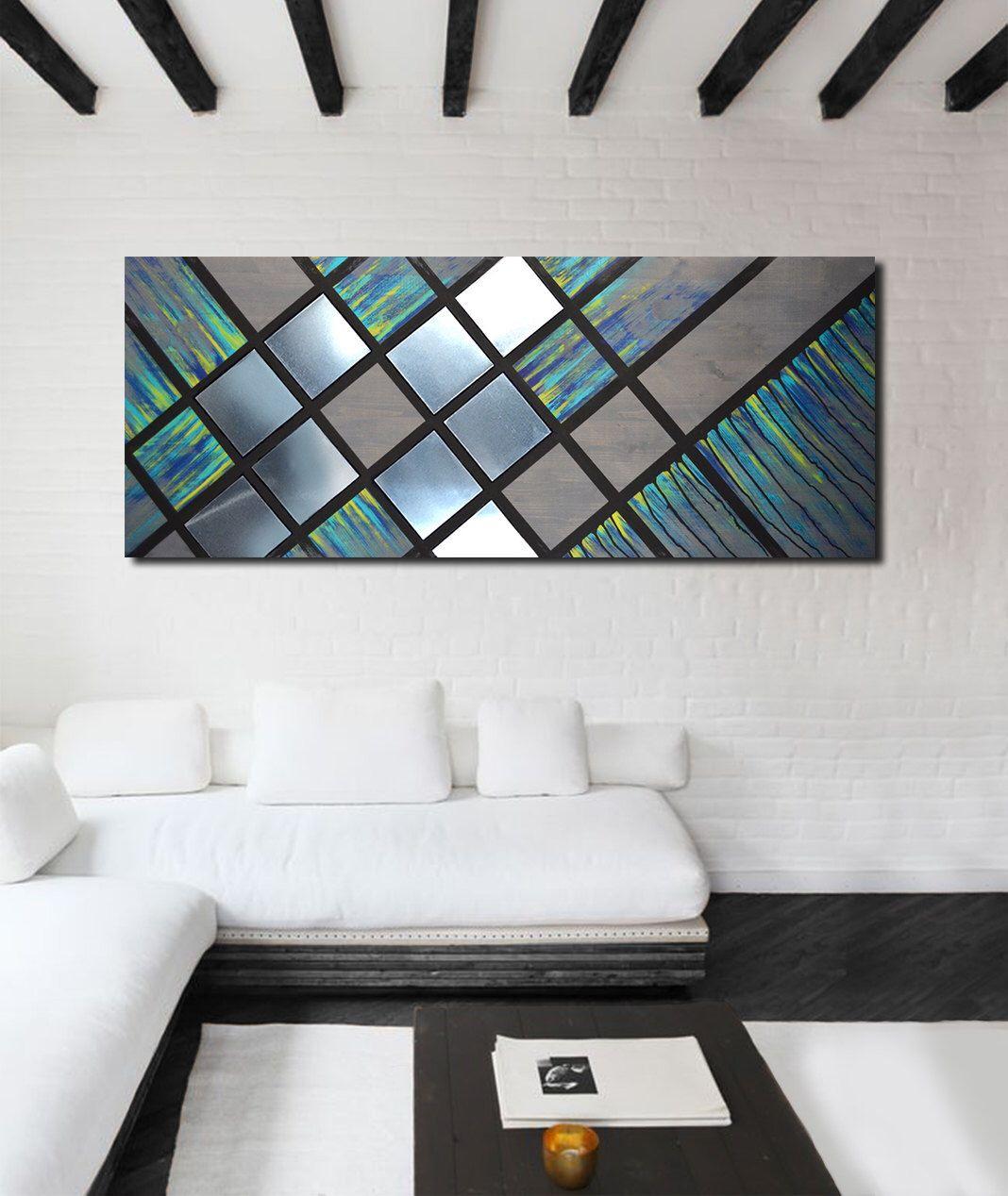 Metal Wall Art, Wood Wall Art, Geometric Wall Art, Modern With Contemporary Geometric Wall Decor (View 8 of 30)