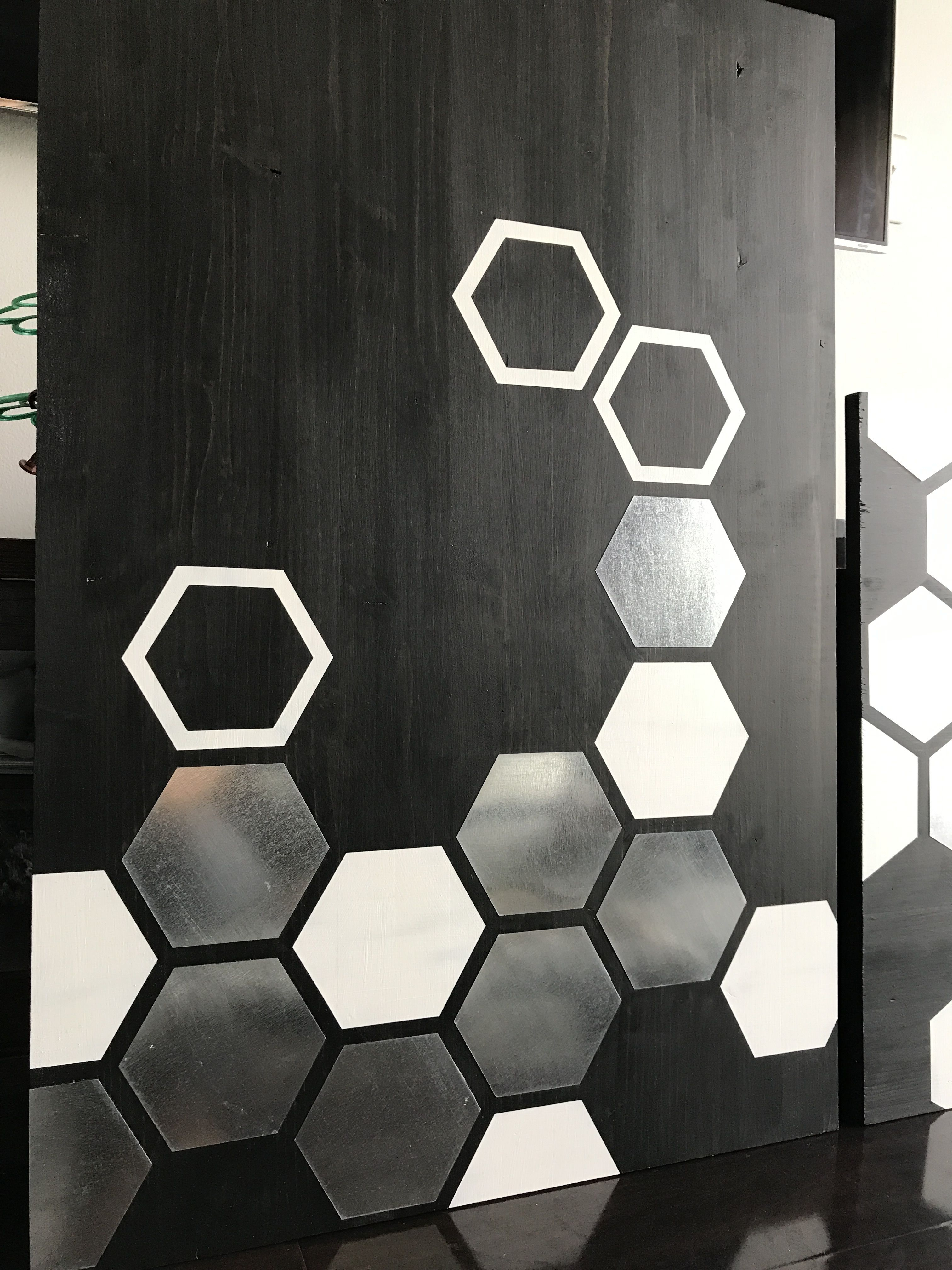 Metal Wall Art, Wood Wall Art, Modern Painting, Geometric With Contemporary Geometric Wall Decor (View 3 of 30)