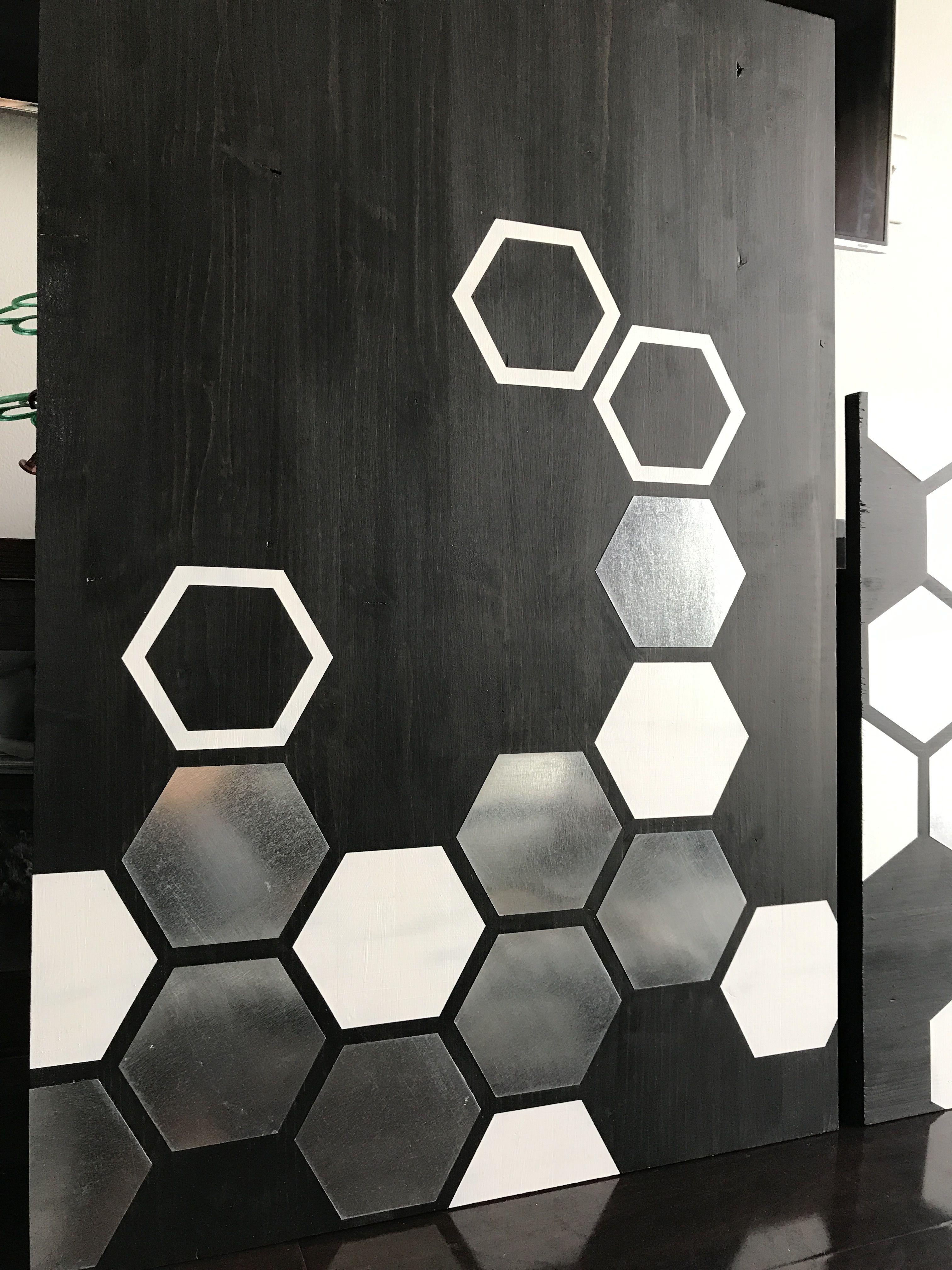 Metal Wall Art, Wood Wall Art, Modern Painting, Geometric with Contemporary Geometric Wall Decor (Image 25 of 30)