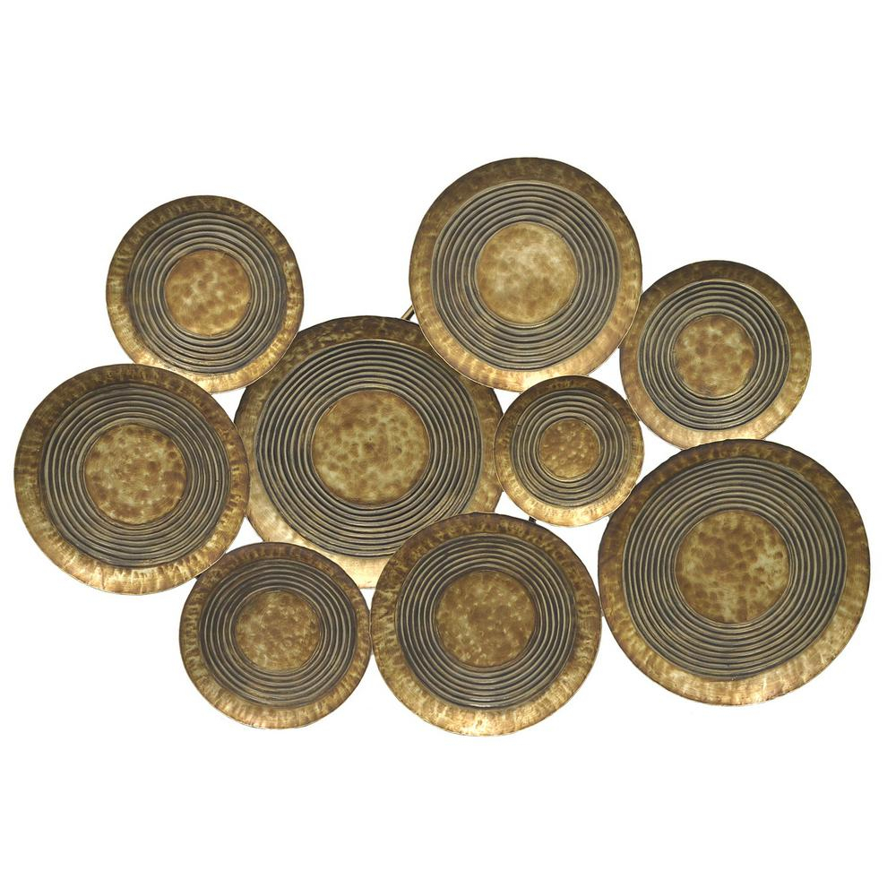 Metal Wall Decor for Scattered Metal Italian Plates Wall Decor (Image 11 of 30)