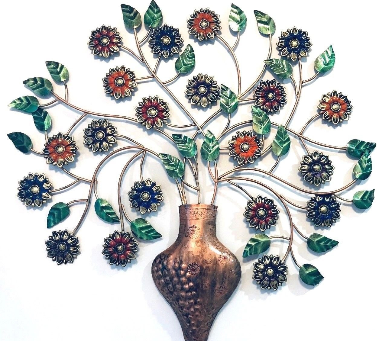 Metal Wall Decor Tree Wall Hanging Sculpture Big 76 Cm With Regard To Tree Wall Decor (View 19 of 30)