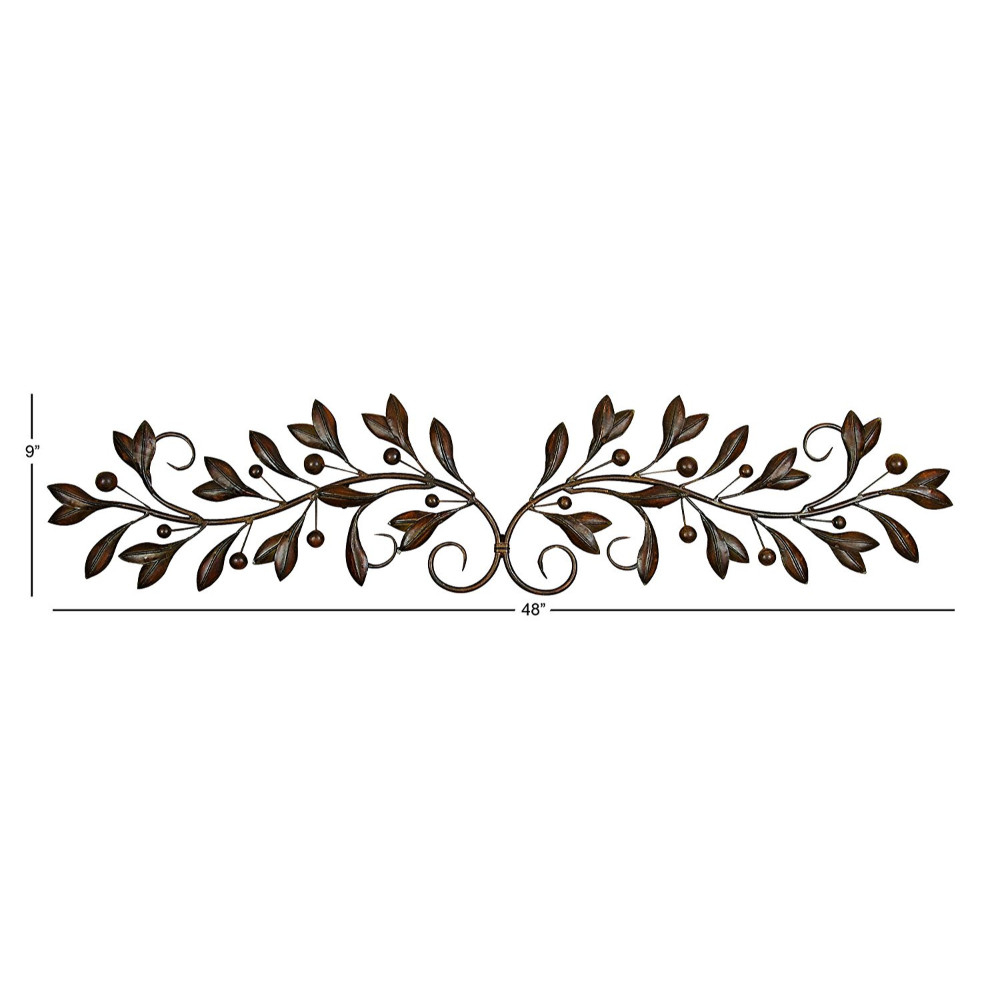 Metal Wall Decor With Round Scroll Frame within Scroll Framed Wall Decor (Image 16 of 30)