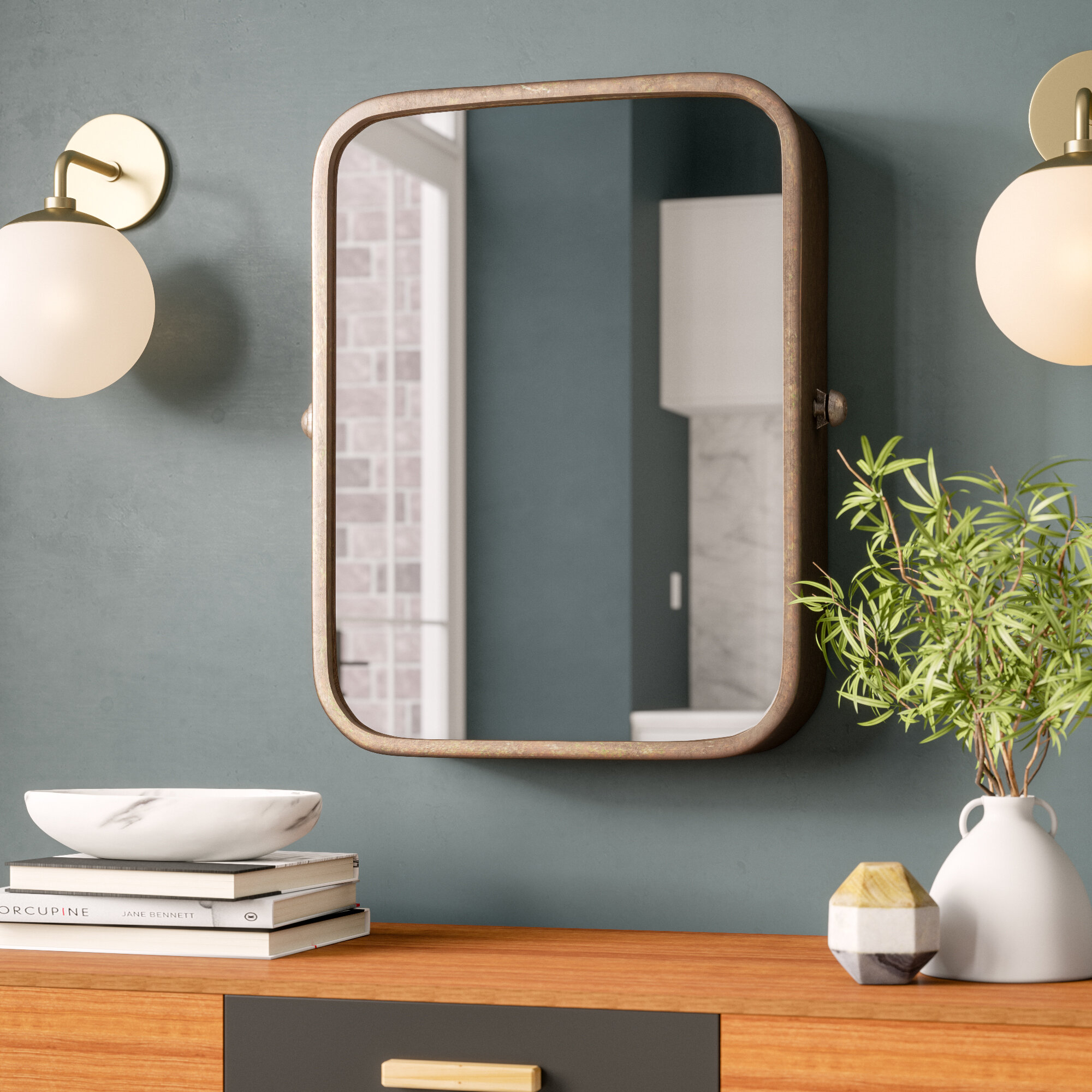 Metal Wall Mirrors You'll Love In 2019 | Wayfair intended for Koeller Industrial Metal Wall Mirrors (Image 17 of 30)