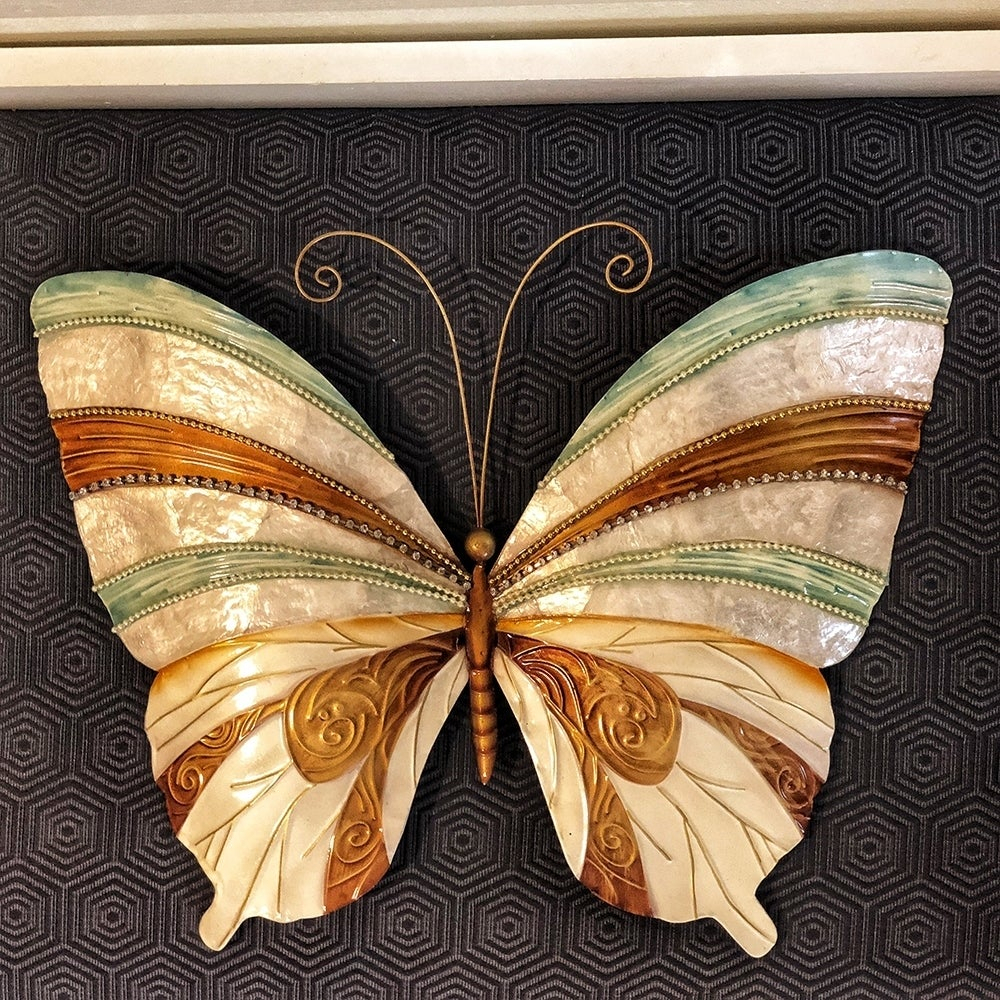 Metal Wall Sculptures | Find Great Art Gallery Deals Pertaining To 3 Piece Capri Butterfly Wall Decor Sets (View 13 of 30)