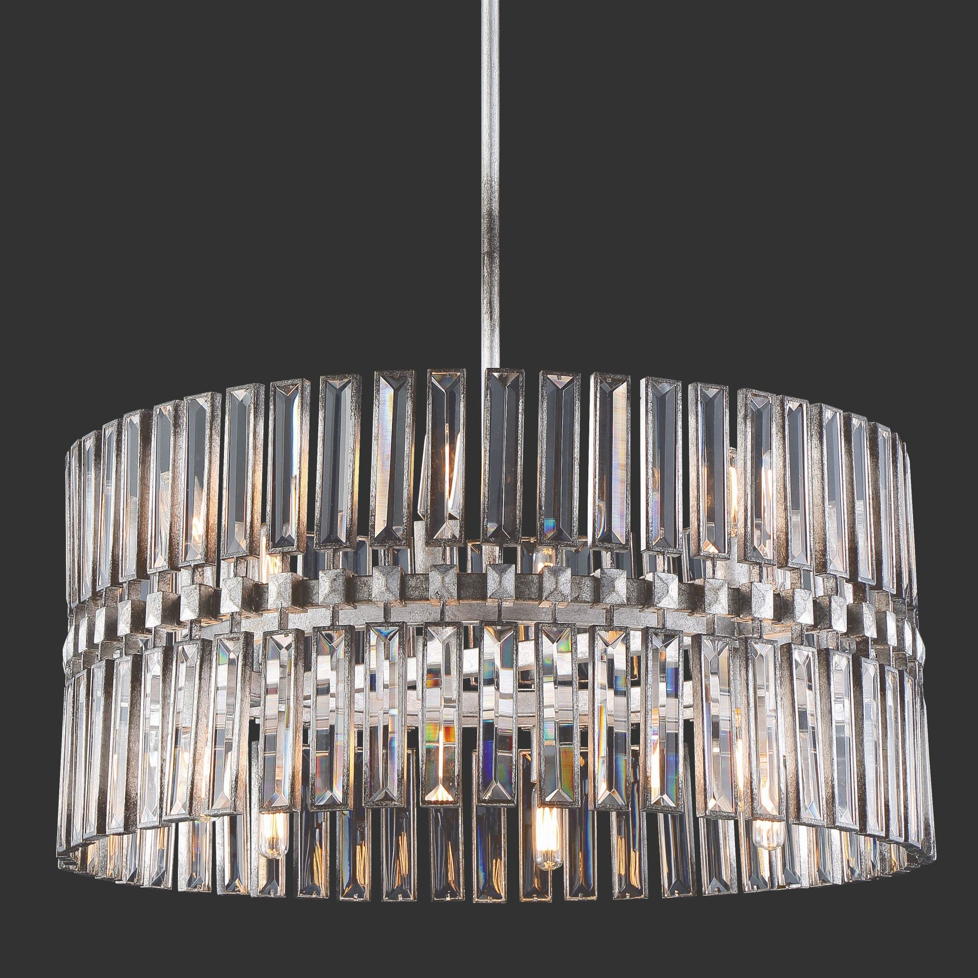 Metallic Metropolitan Ceiling Lights | Shop Our Best Pertaining To Aurore 4 Light Crystal Chandeliers (View 23 of 30)