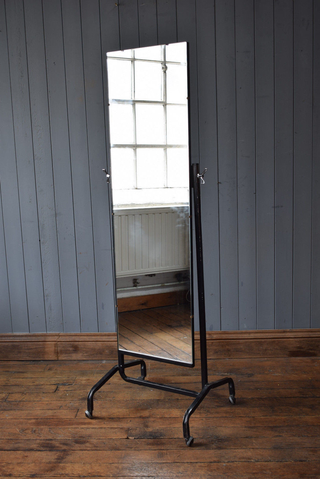 Mid Century Metal Freestanding Full Length Cheval Mirror Industrial Intended For Industrial Full Length Mirrors (View 20 of 30)
