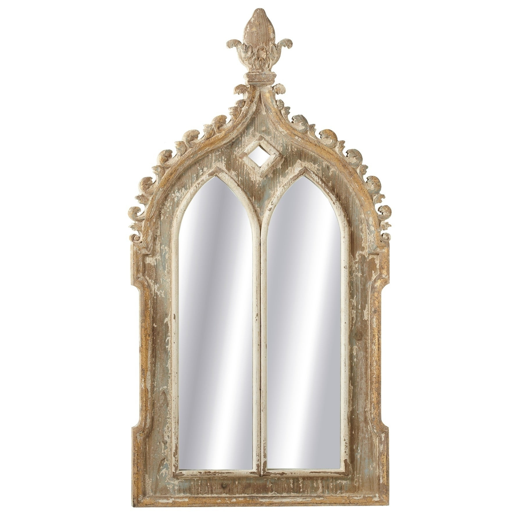 Midwest Cbk Gold Framed Double Arch Wall Mirror Regarding Gold Arch Wall Mirrors (View 21 of 30)
