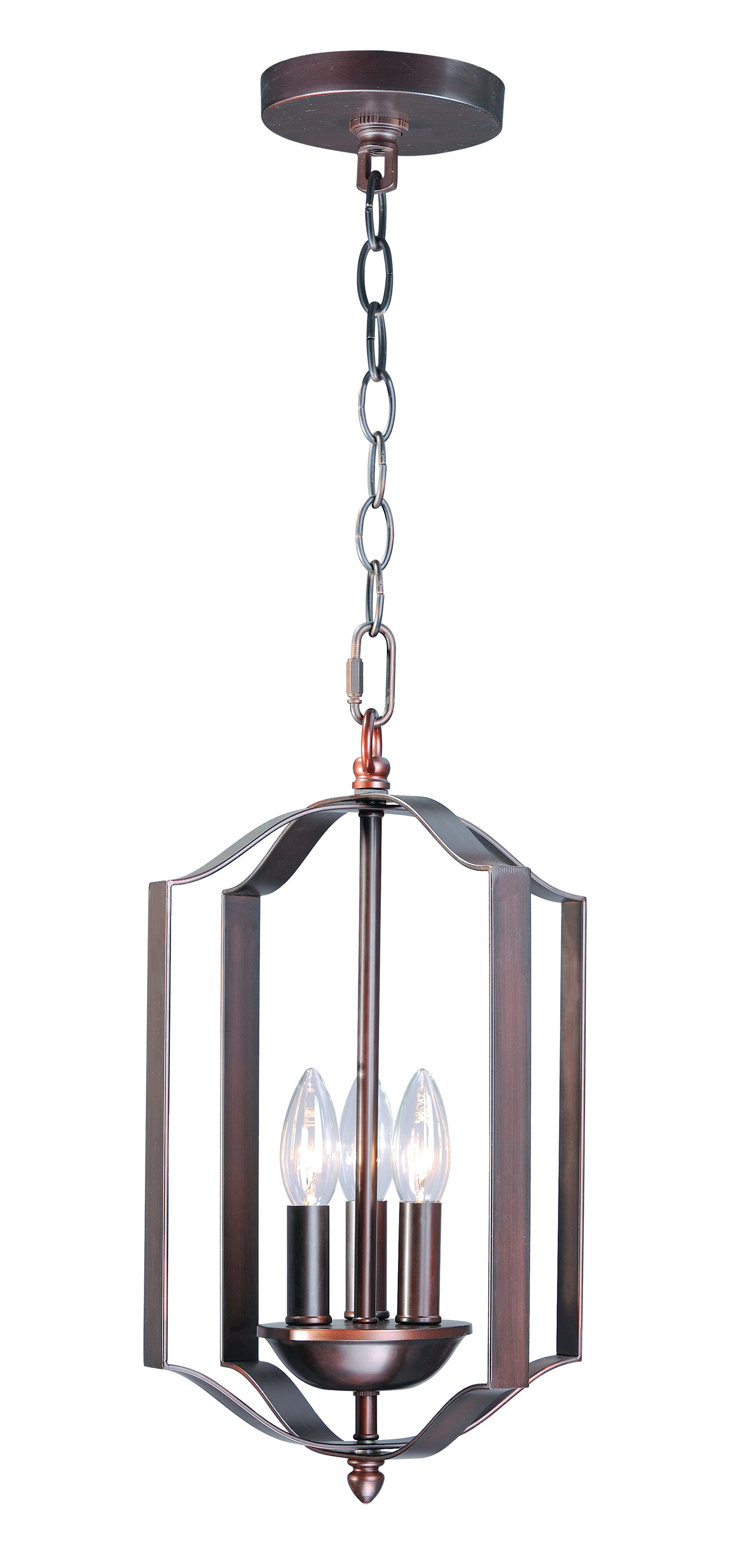 Mielke 3-Light Lantern Pendent regarding Chauvin 3-Light Lantern Geometric Pendants (Image 23 of 30)