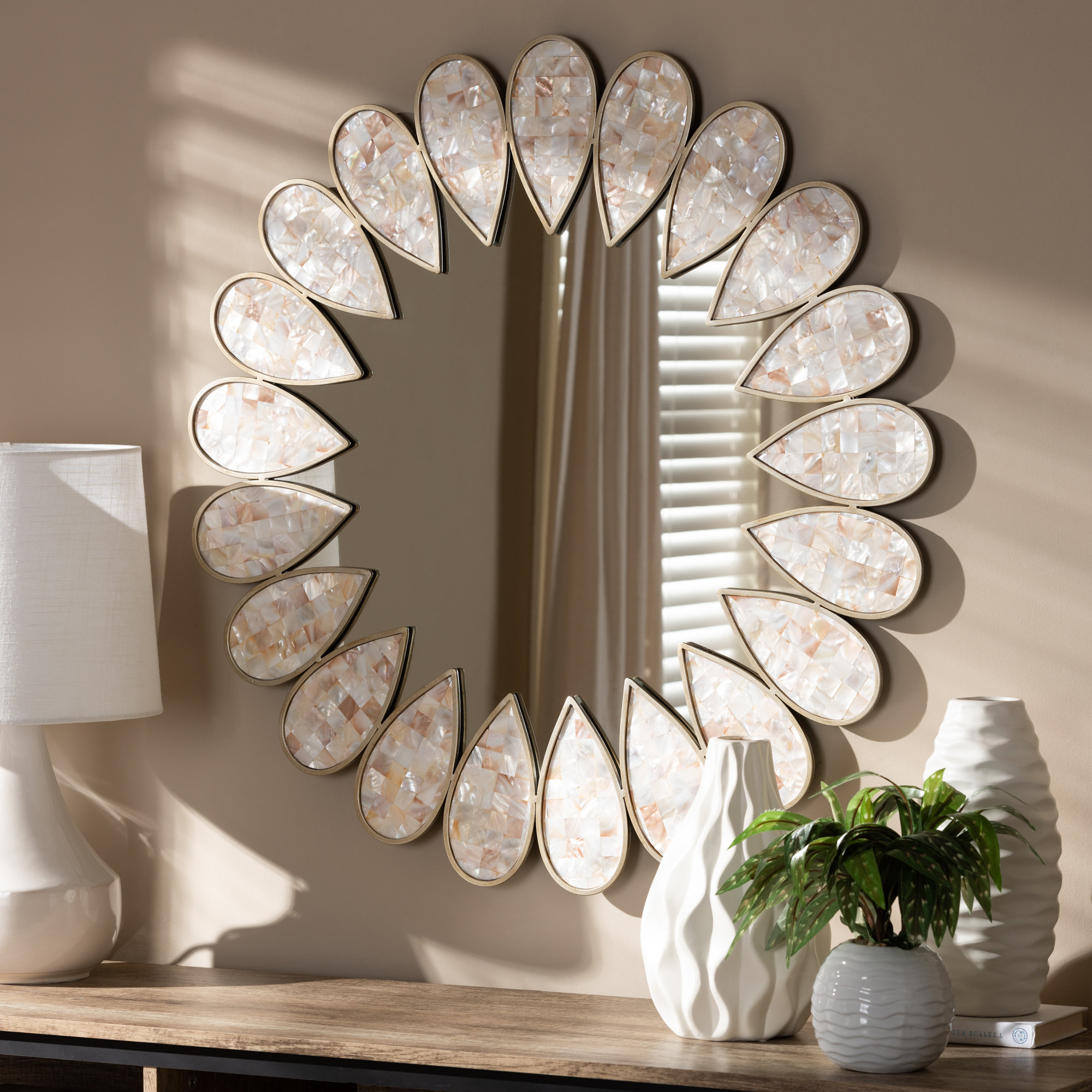 Migdalia Wall Mirror Pertaining To Polen Traditional Wall Mirrors (View 8 of 30)