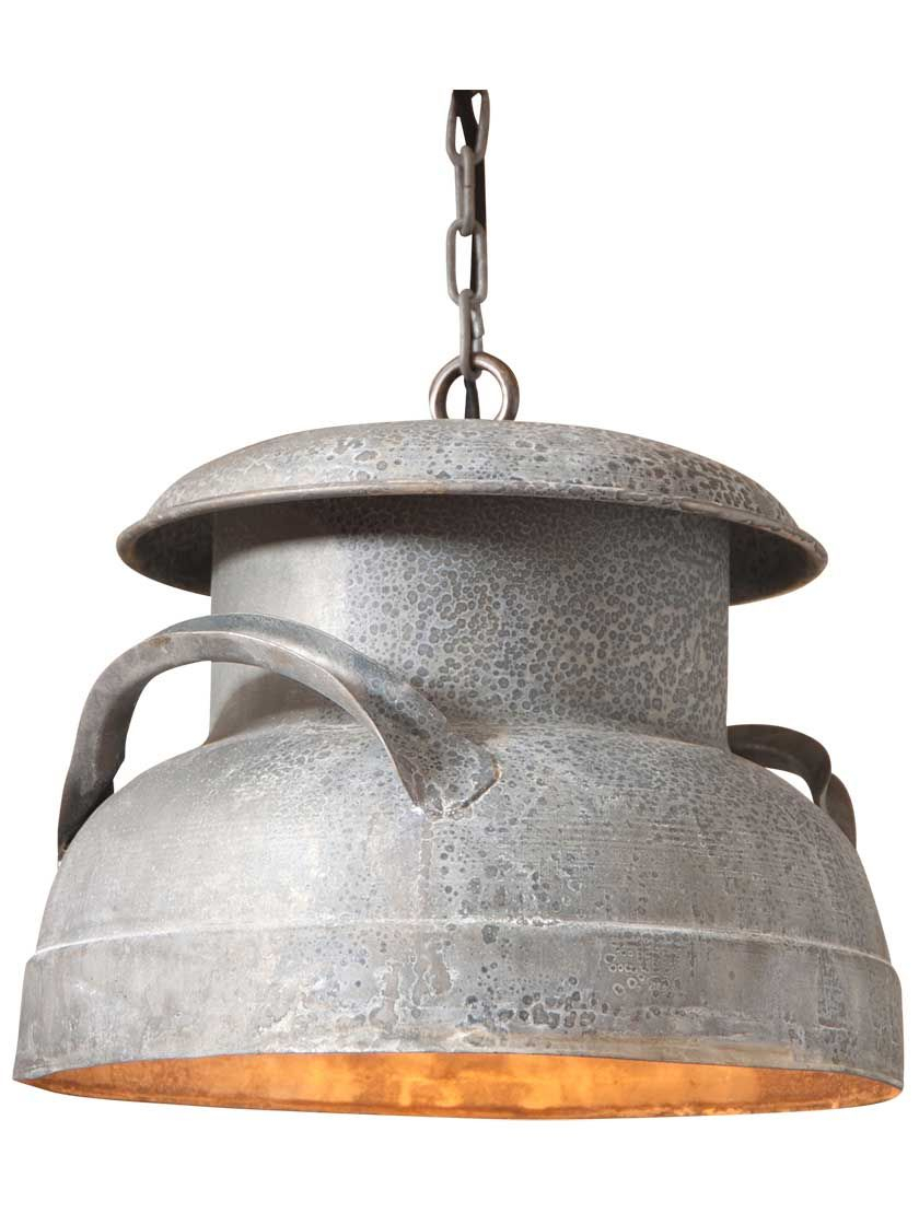 """Milk Can 13"""" Pendant Light 