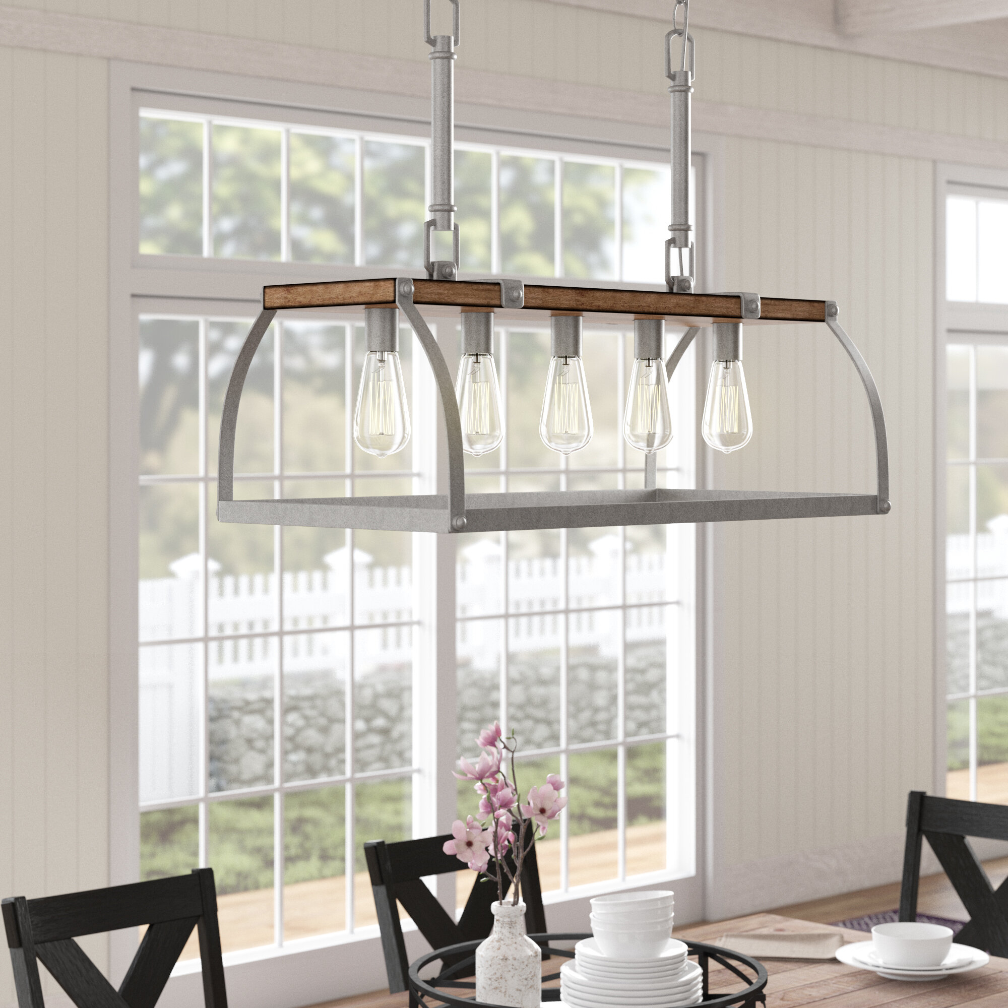 Milla 5 Light Rectangle Chandelier In Ellenton 4 Light Rectangle Chandeliers (View 11 of 30)