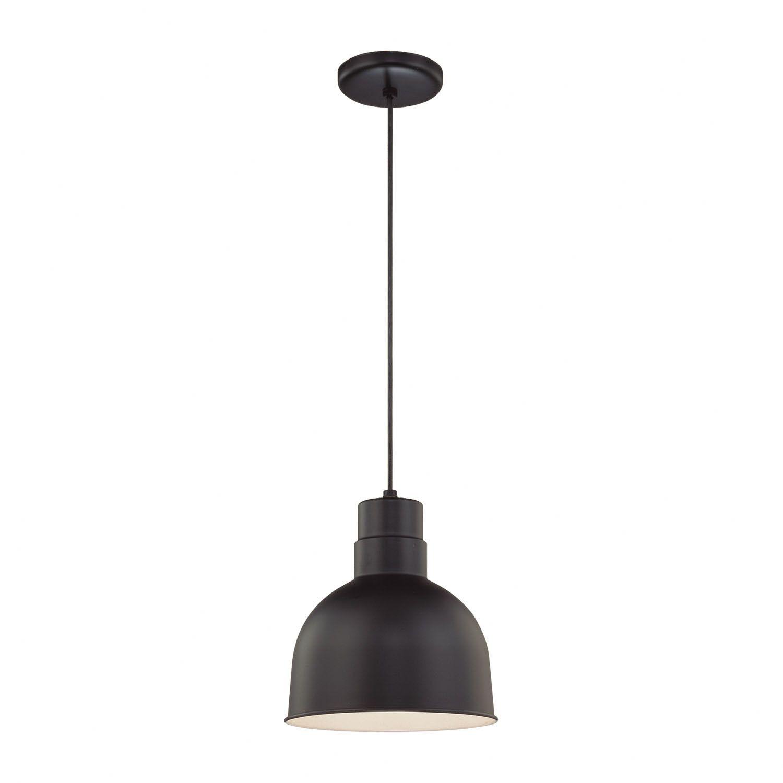 Millennium Lighting R Series 1 Light Kitchen Pendant | Home in Abernathy 1-Light Dome Pendants (Image 24 of 30)
